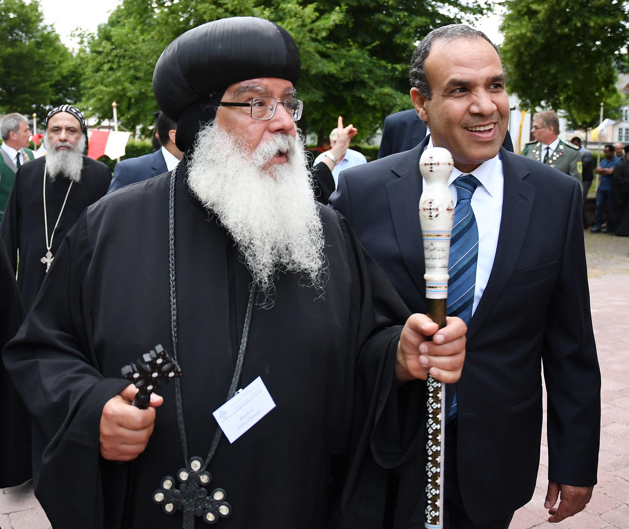 S.E. Bischof Anba Damian und S.E. Dr. Badr Abdelatty, Botschafter der Arabischen Republik Ägypten. Foto: Maria Hopp