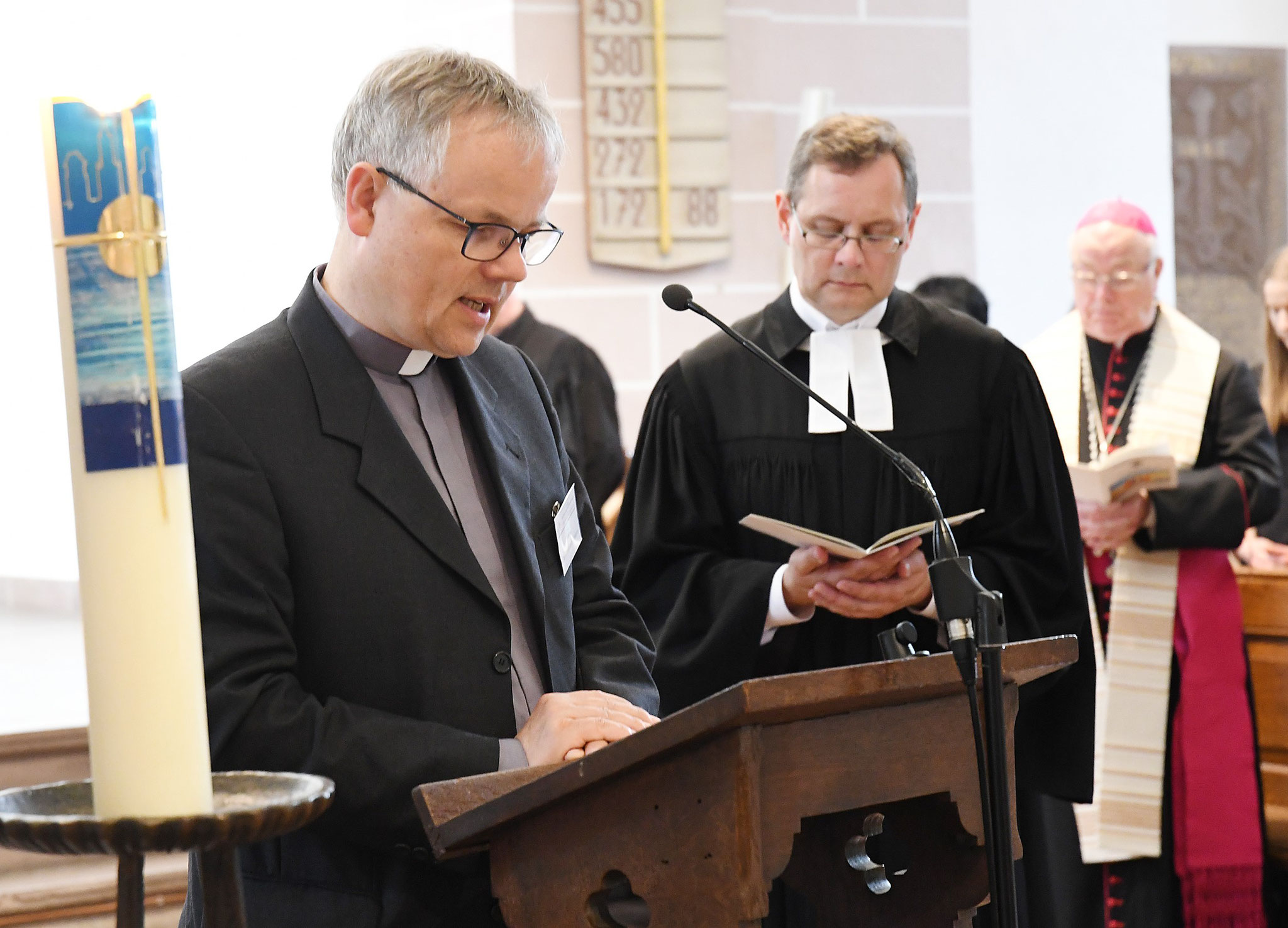 Pfarrer Dr. Christian Hohmann und Pfarrer Gunnar Wirth. Foto: Maria Hopp