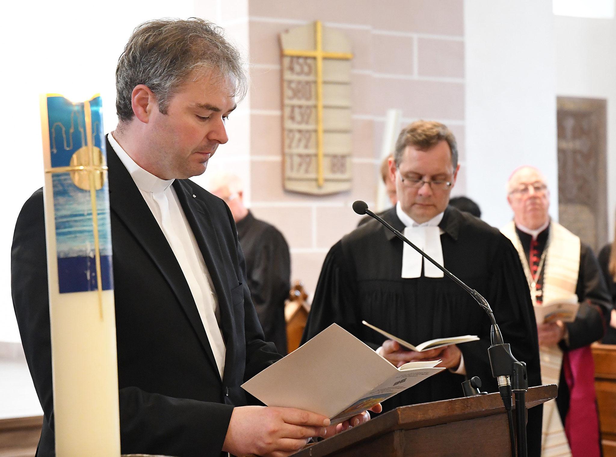 Pastor Tobias Spittmann und Pfarrer Gunnar Wirth. Foto: Maria Hopp