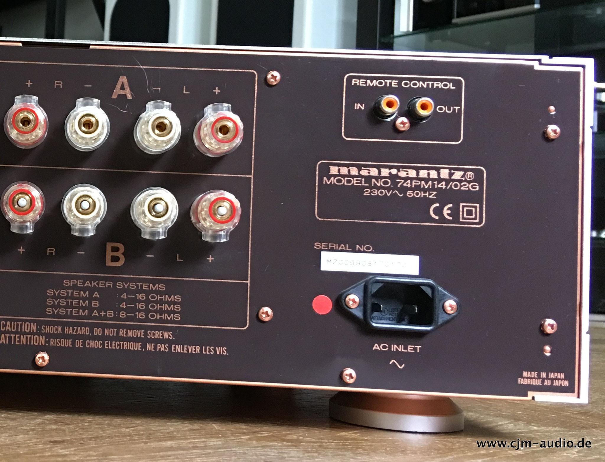 Marantz Cjm Audio High End Audiomarkt Fr Gebrauchtgerte Sc 11s1 Preamplifier Pm 14