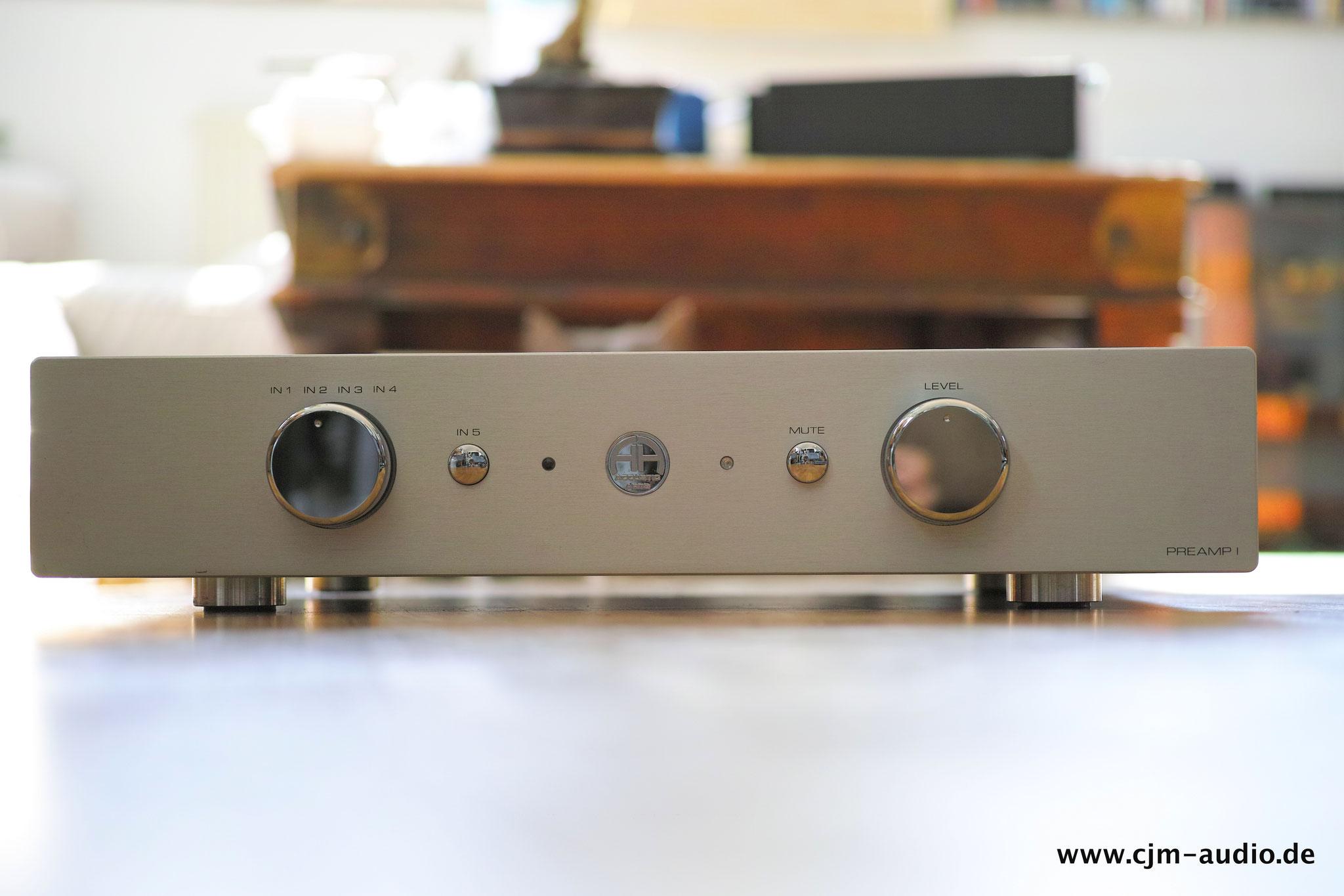 Accustic Arts Preamp 1 Balanced Mkii Cjm Audio High End Audiomarkt Line Highend Preamplifier With Ics