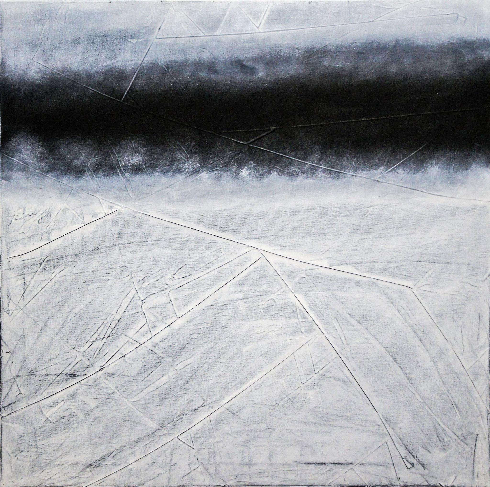 """""""Schneegestöber""""          Öl + Acryl     60 x 60 cm"""