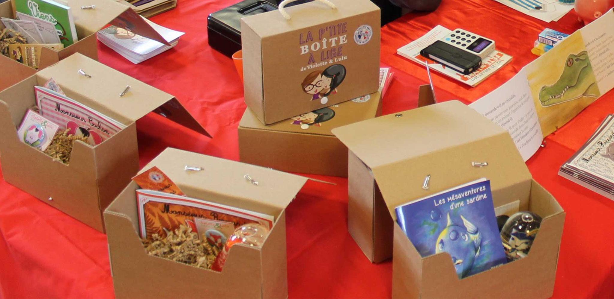 Les box littéraires des Editions Violette et Lulu au Salon du Livre d'Anost 2017
