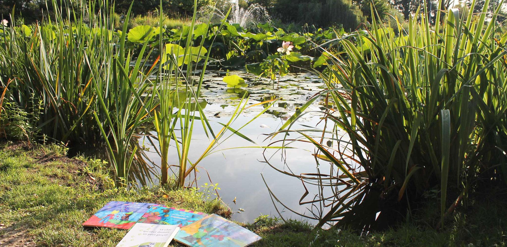 Les livres de Cloé Perrotin Benjulice Edition aux Jardins Aquatiques à l'été 2017