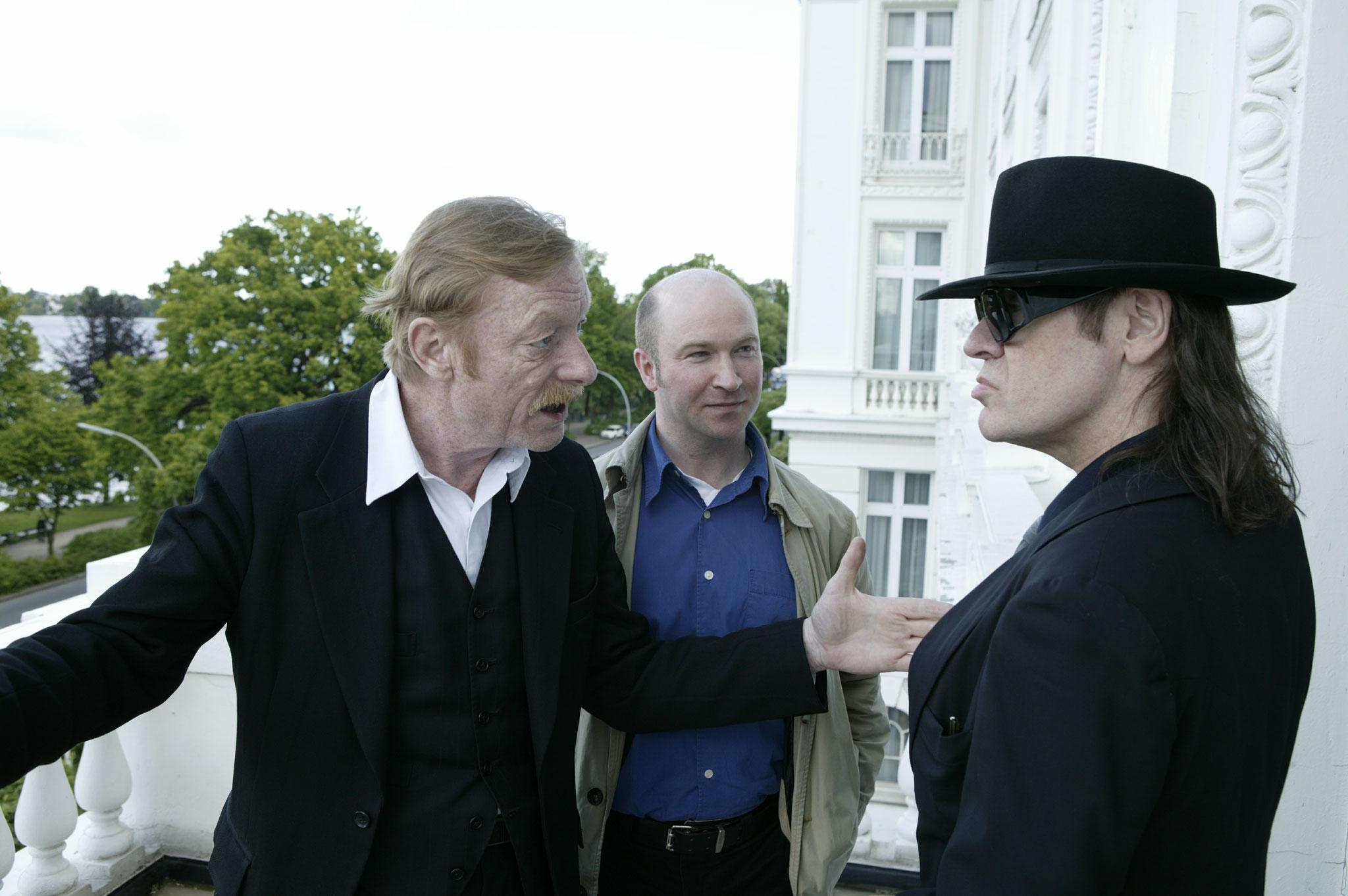 Otto Sander, Udo Lindenberg, Helge Stroemer, Foto: Nico Krauss, für Yacht
