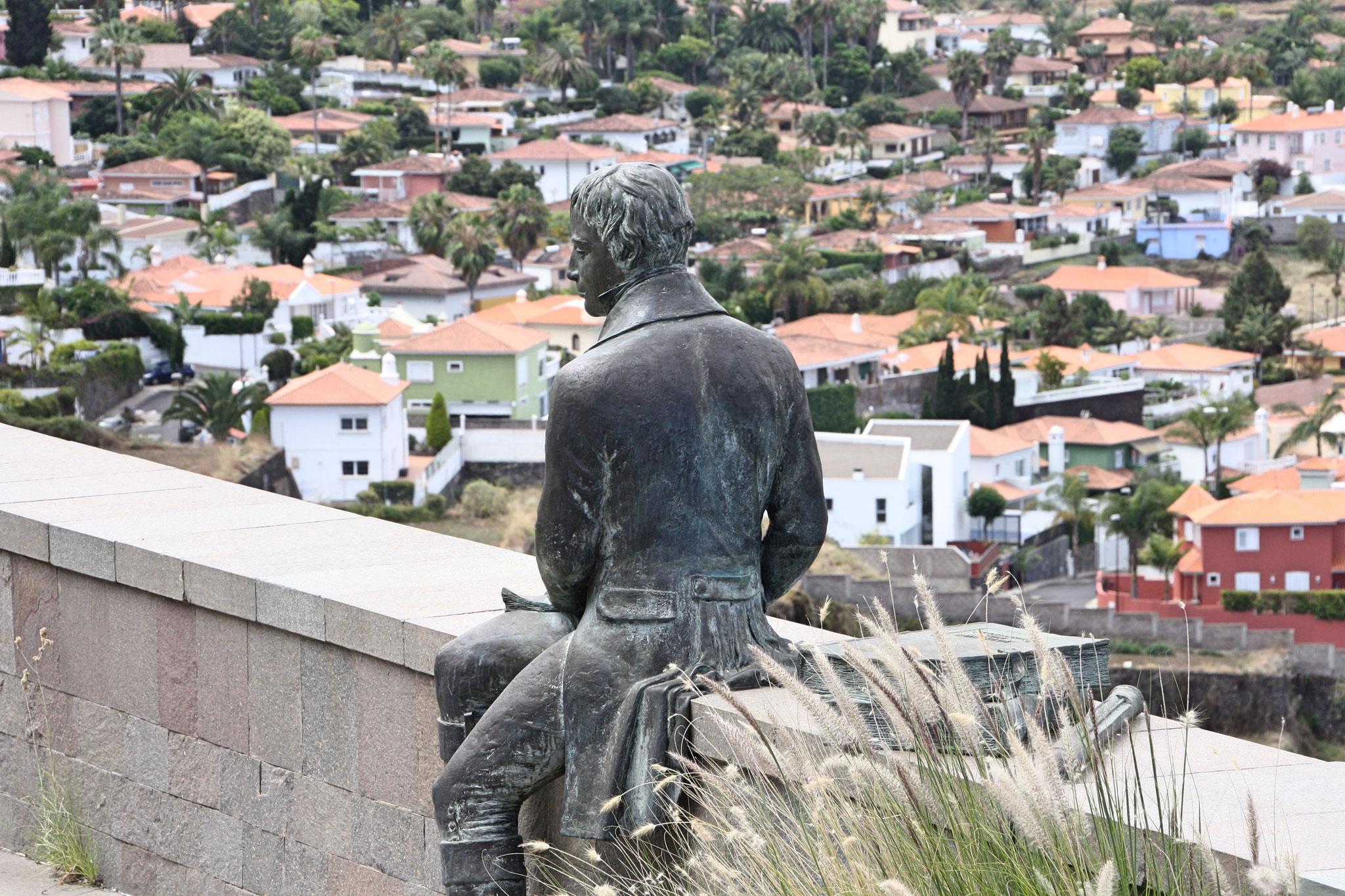 Humboldt-Statue. Mirador Humboldt, Teneriffa. Radiobeitrag für Deutschlandfunk