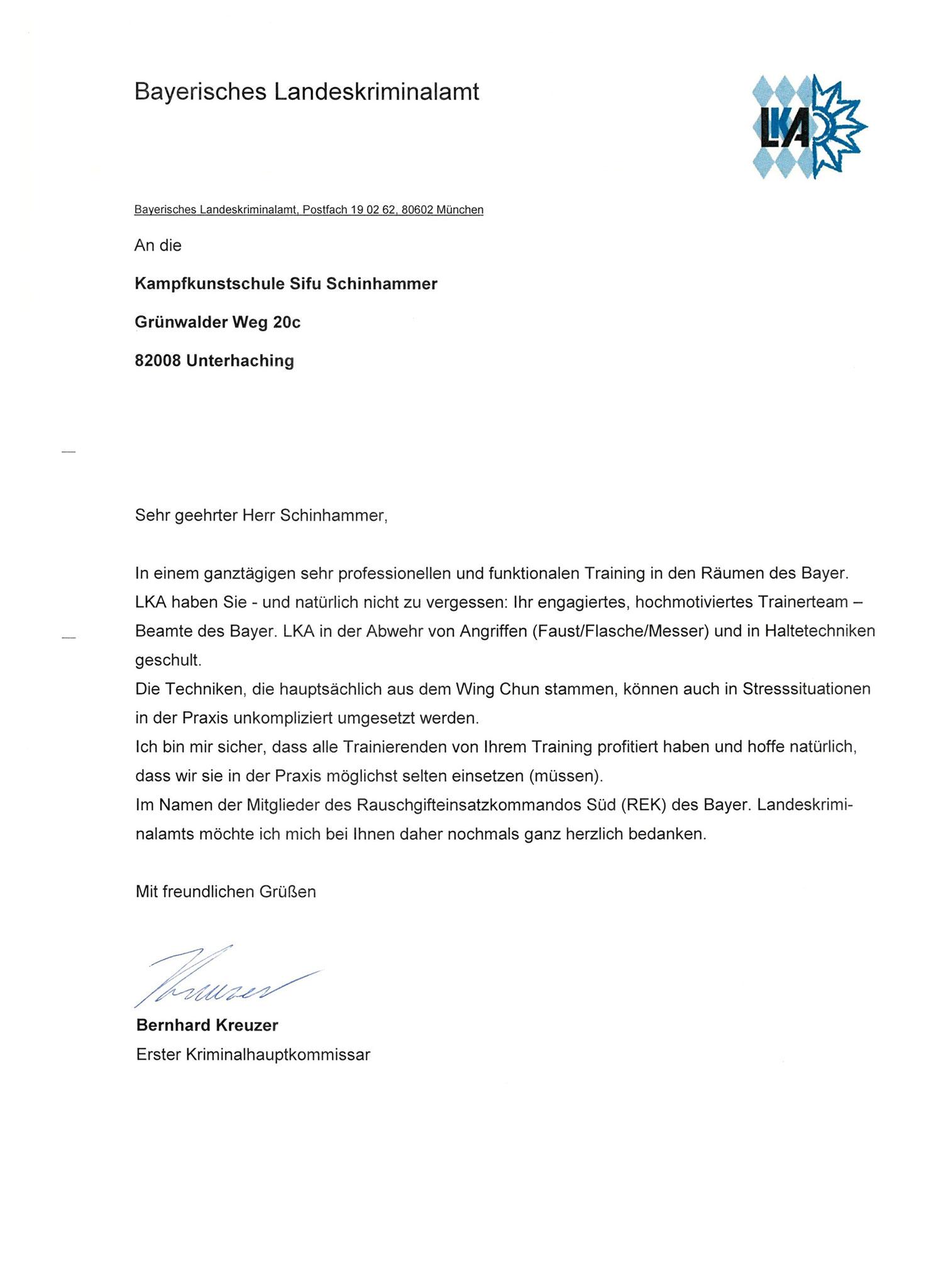 Schreiben BLKA München