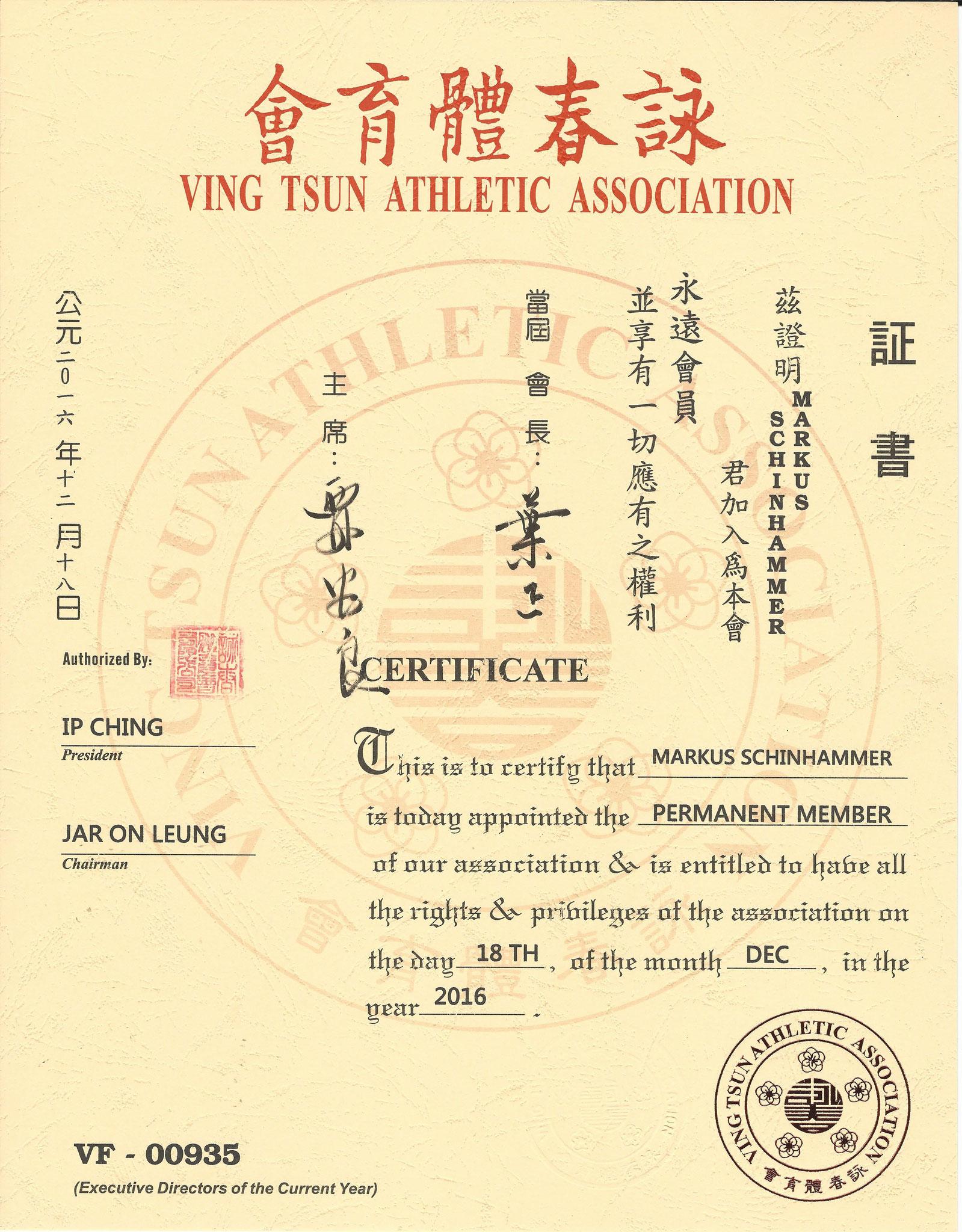 Permanent Member VTAA