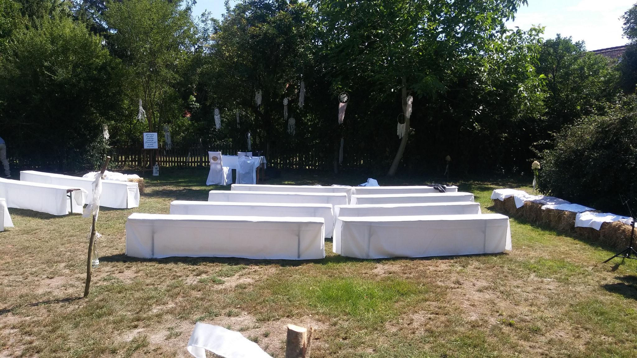 Freie Trauung im Garten des Hotels Alte Försterei Kloster Zinna