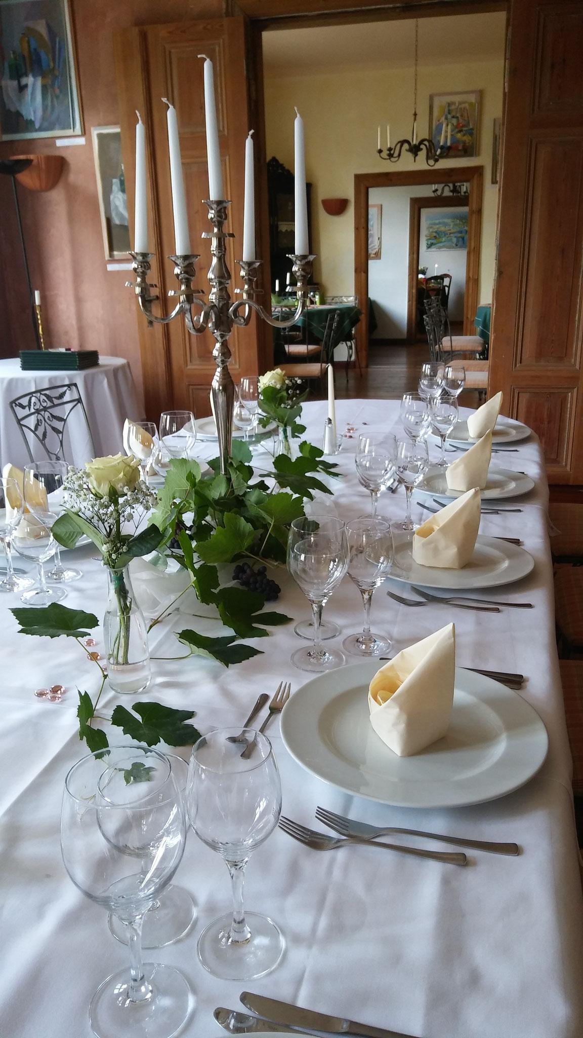 Familienfeiern in den Friedrichstuben des Hotel Alte Försterei Kloster Zinna