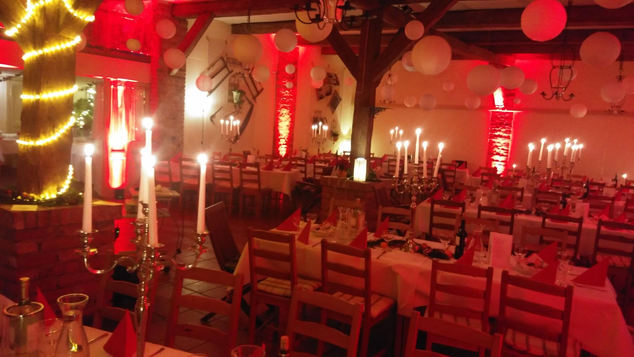 Weihnachtsfeier im Hotel Alte Försterei Kloster Zinna