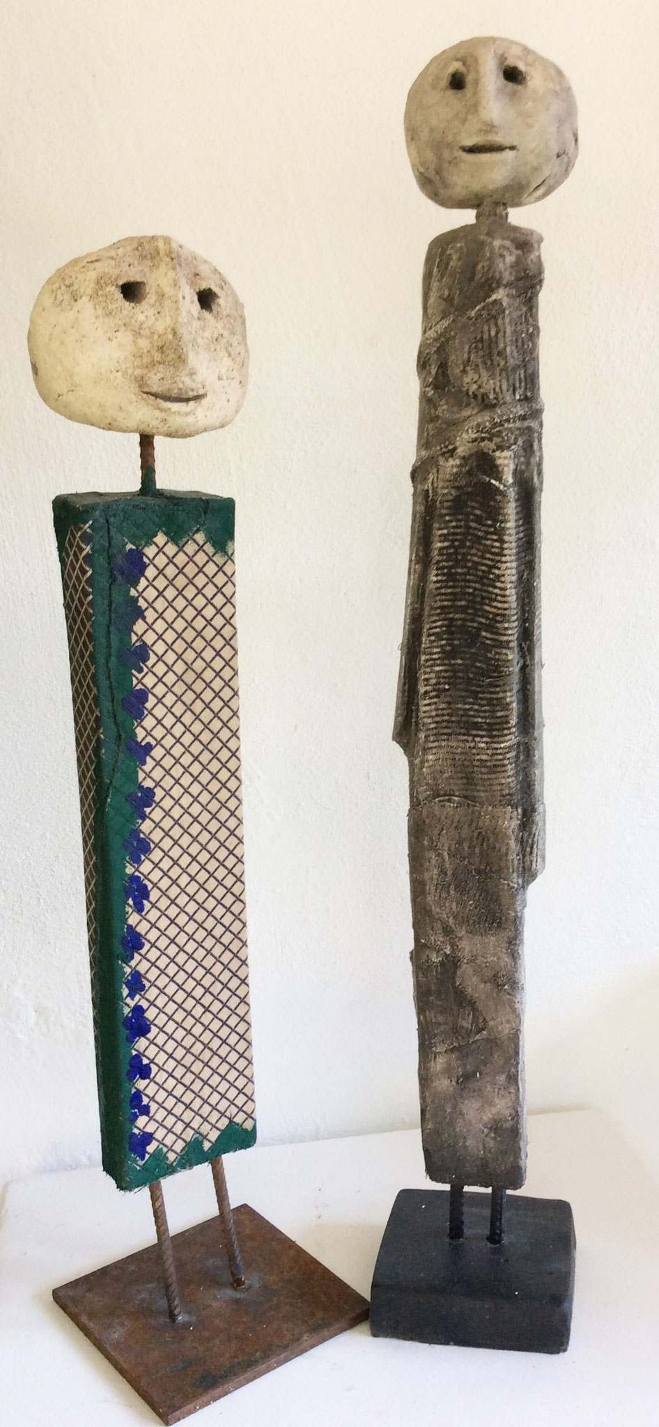 Grazien   Ton/Holz/Metall   ca 40cm hoch