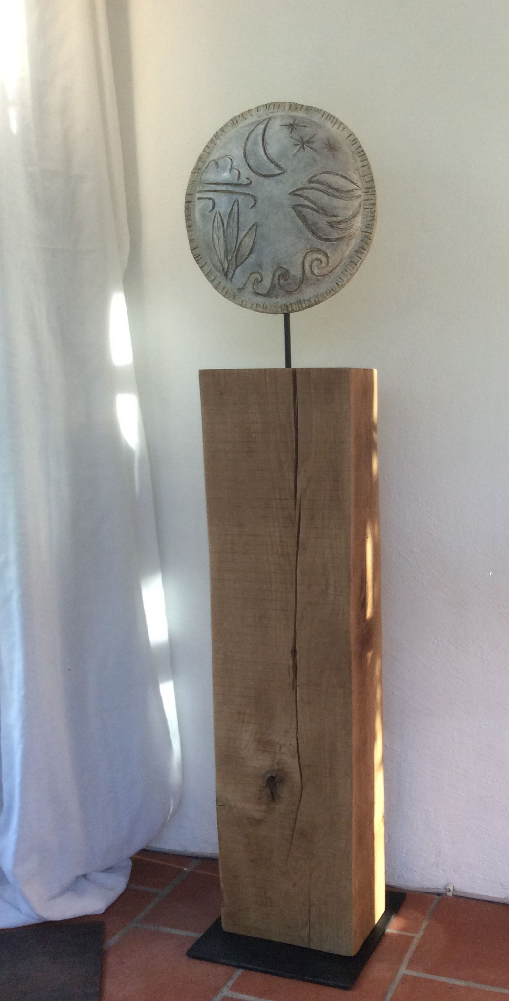 Sonnengesang,  Eiche / Ton  ca 140cm