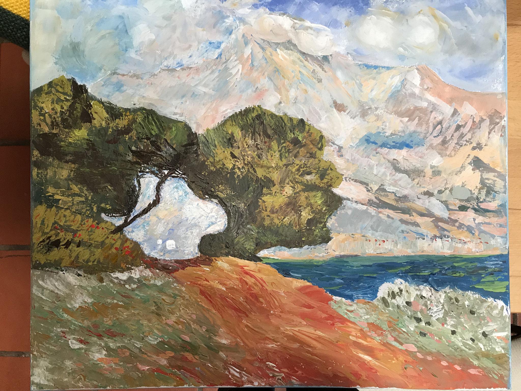 Mein zweiter Monet (Spachtel)