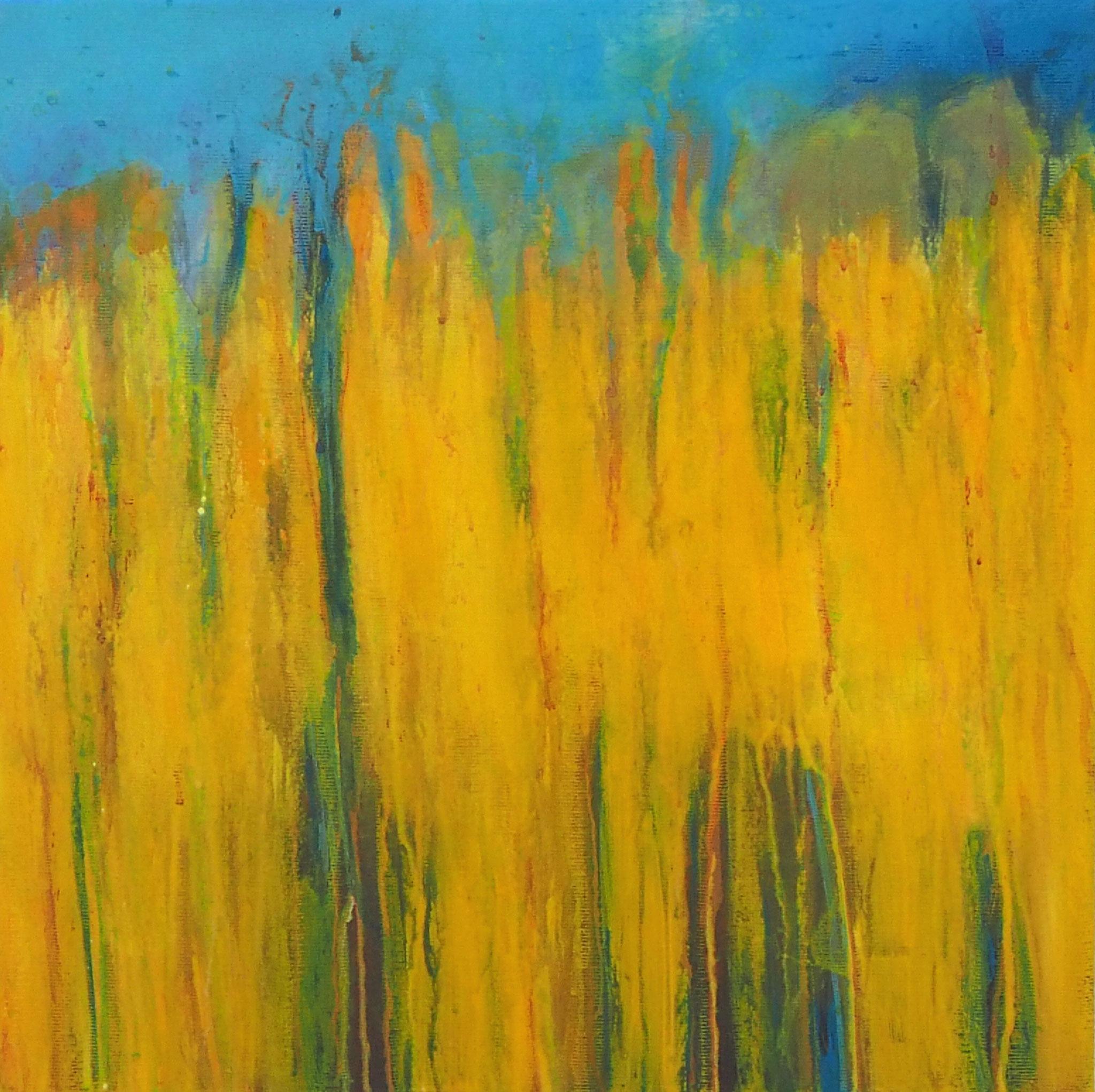 summer flow  acryl on canvas  40 cm / 40 cm
