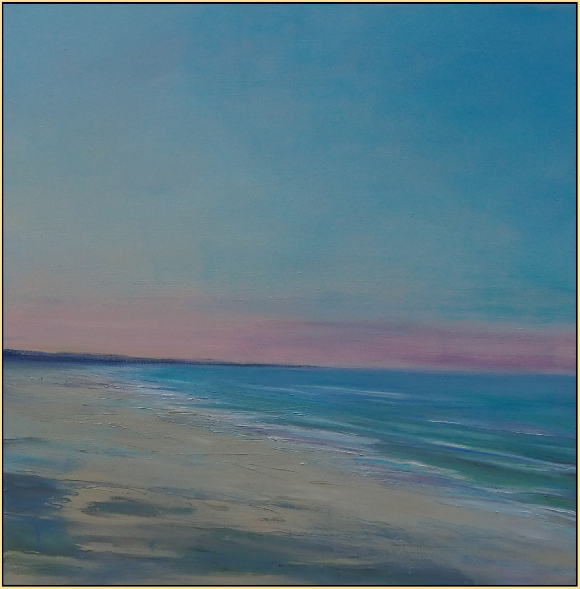 December beach 2020 II acryl on canvas  80 cm / 80 cm