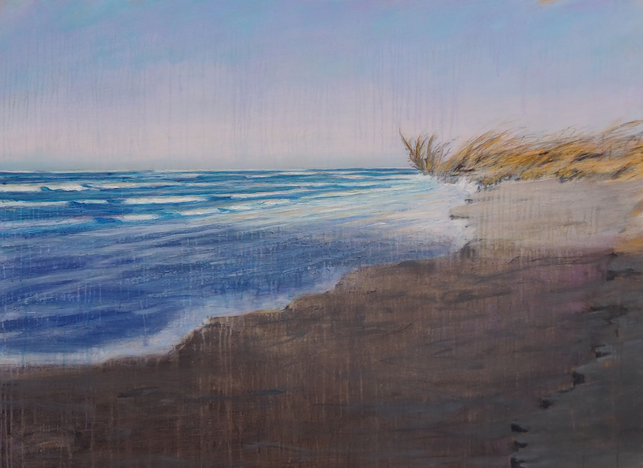 beachcombing acryl on canvas  100 cm / 150 cm