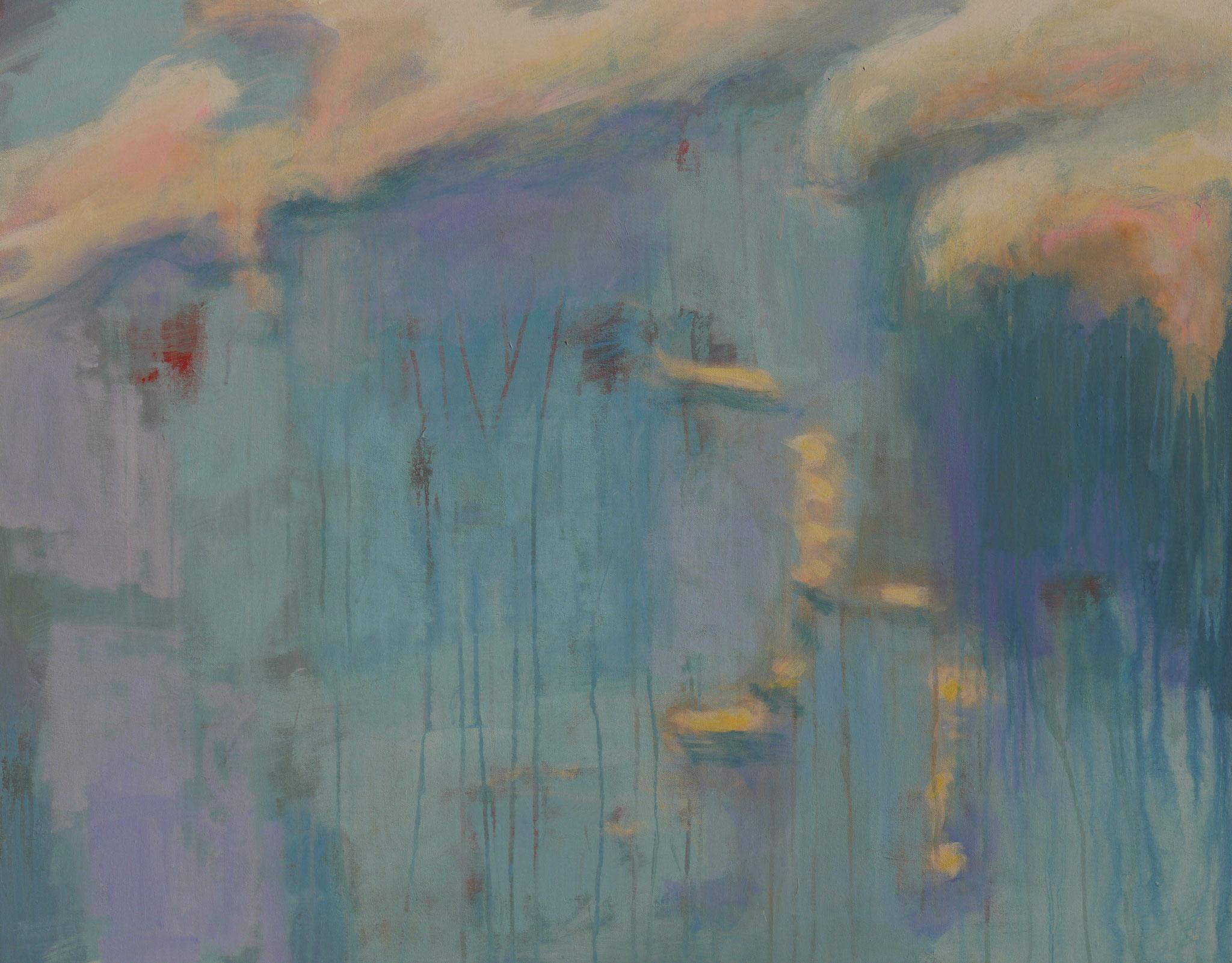 evening sky  canvas  80 cm / 100 cm