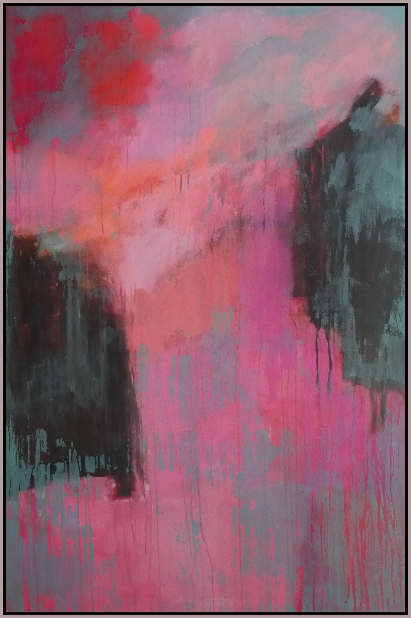 think pink I  canvas  150 cm / 100 cm