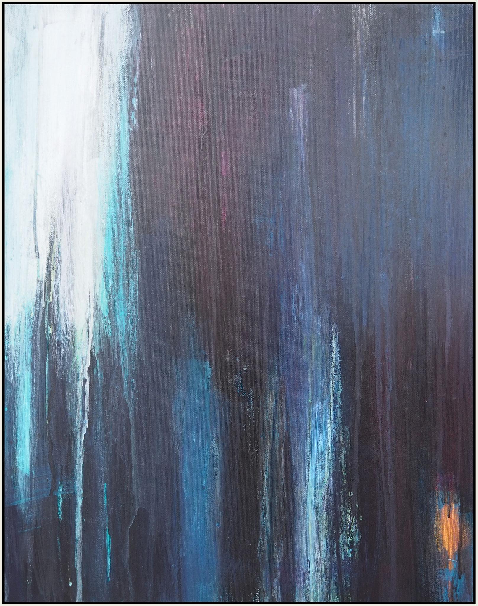 light through the dark 3  acryl on canvas  48 cm / 38 cm