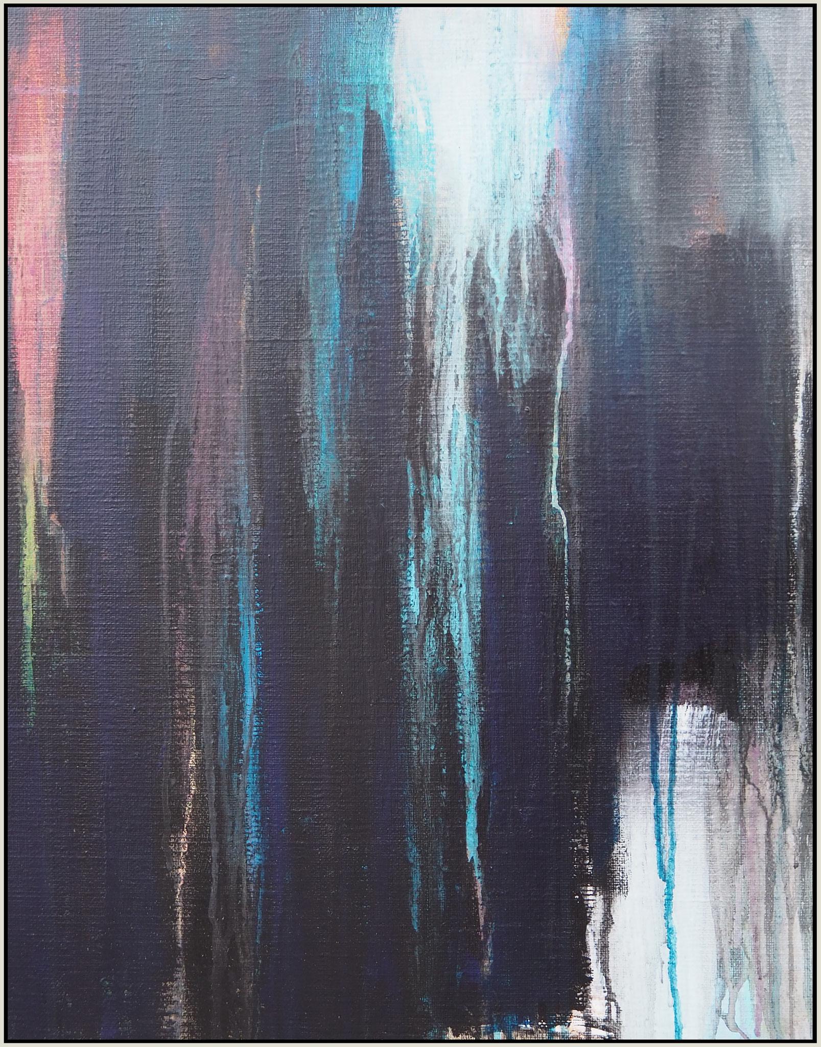 light through the dark 2 acryl on canvas  48 cm / 38 cm