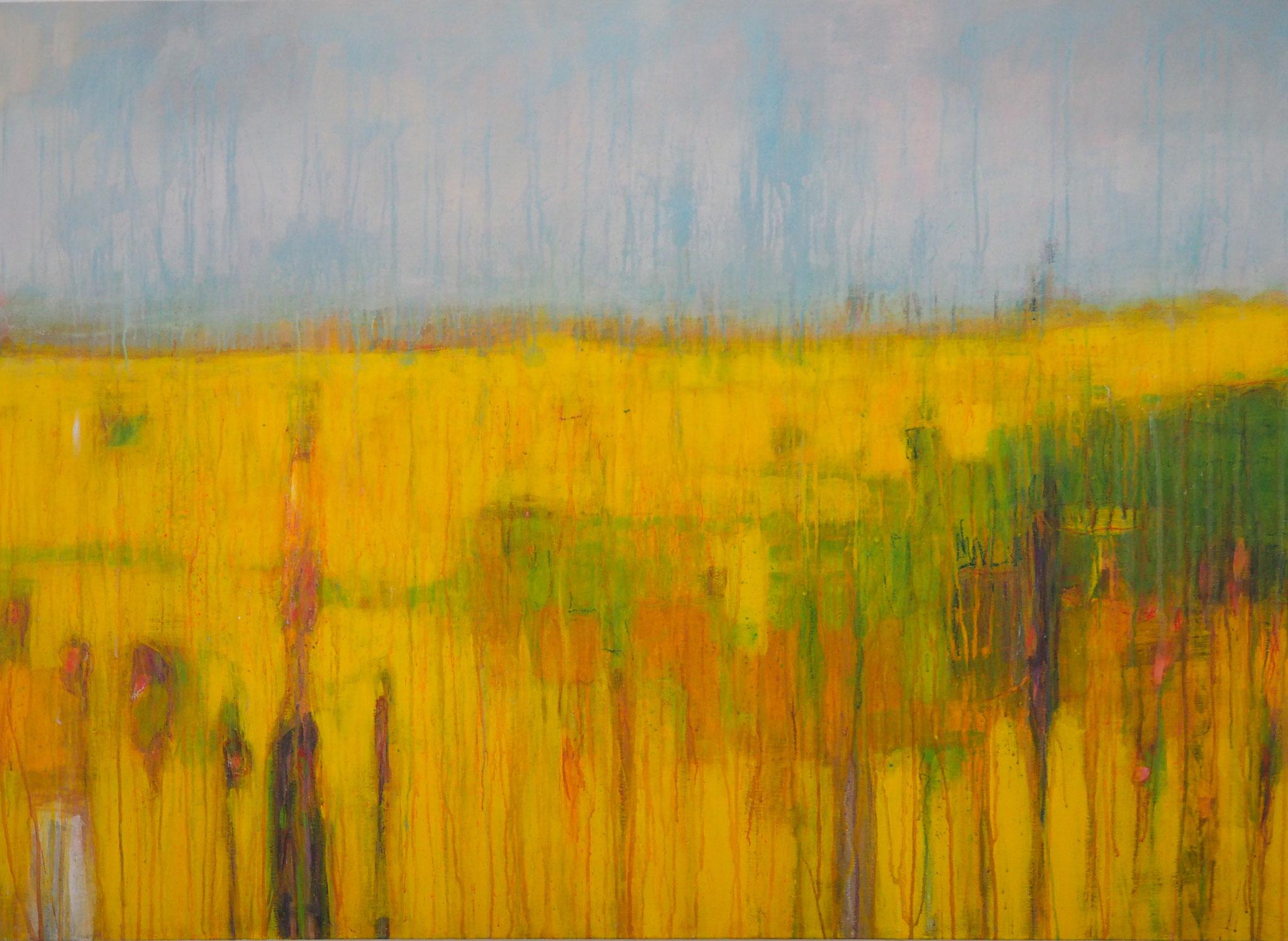walk on the sunny side  acryl on canvas 80 cm / 120 cm