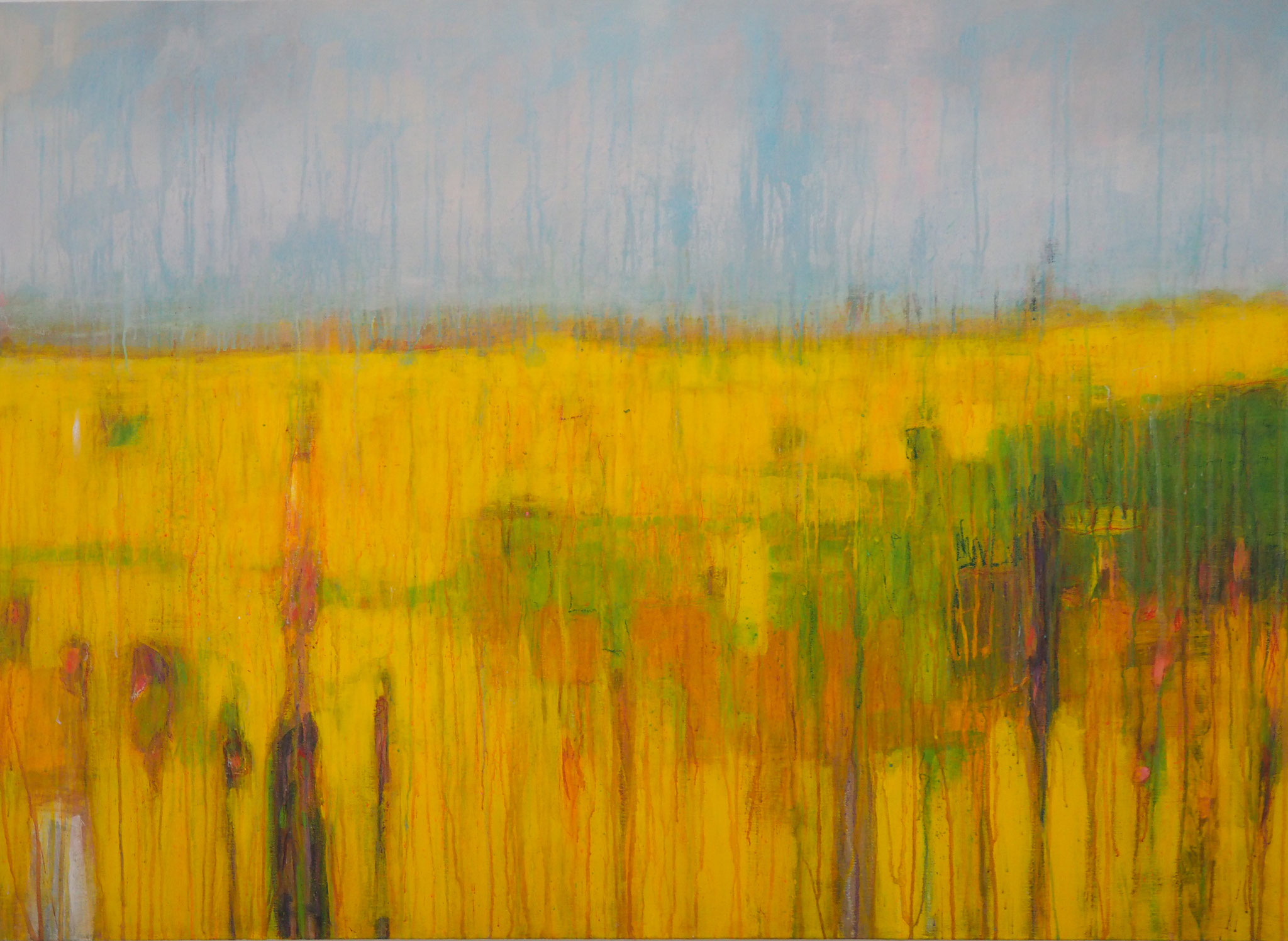 walk on the sunny side  acryl on canvas 80 cm / 120 cm