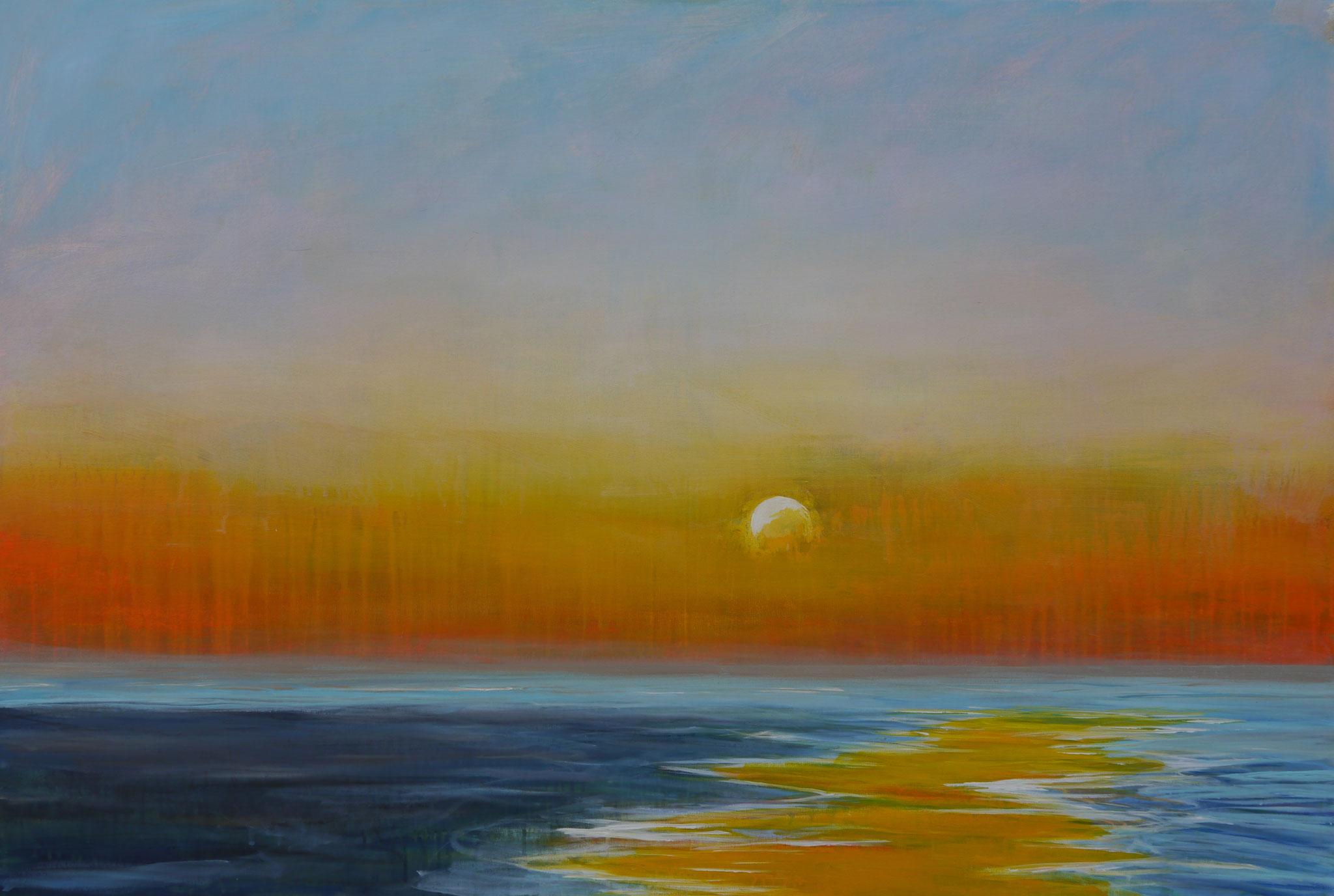 sunrise at Grenen  canvas  80 cm / 120 cm