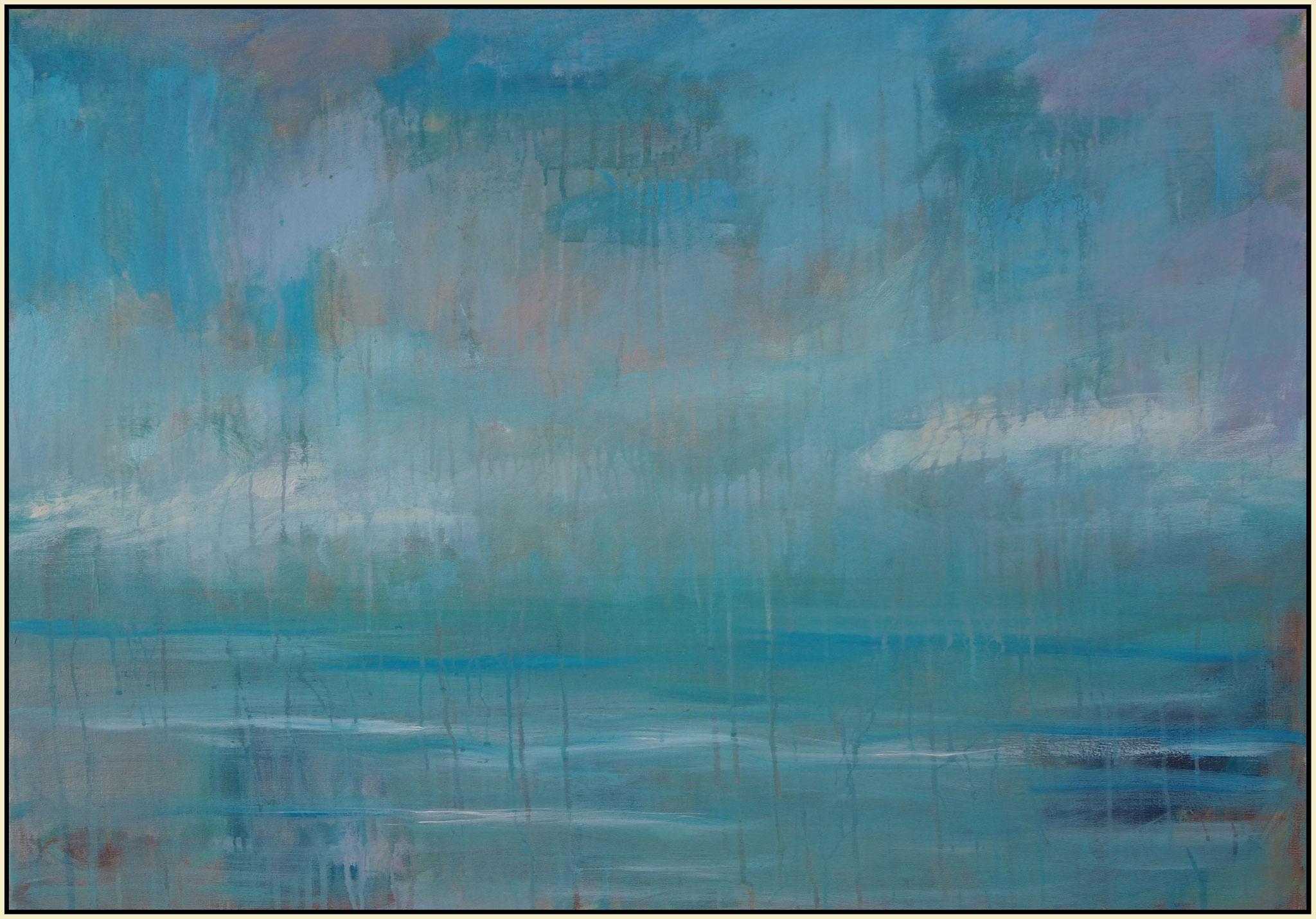 blue ocean  acryl on canvas  70cm / 100 cm