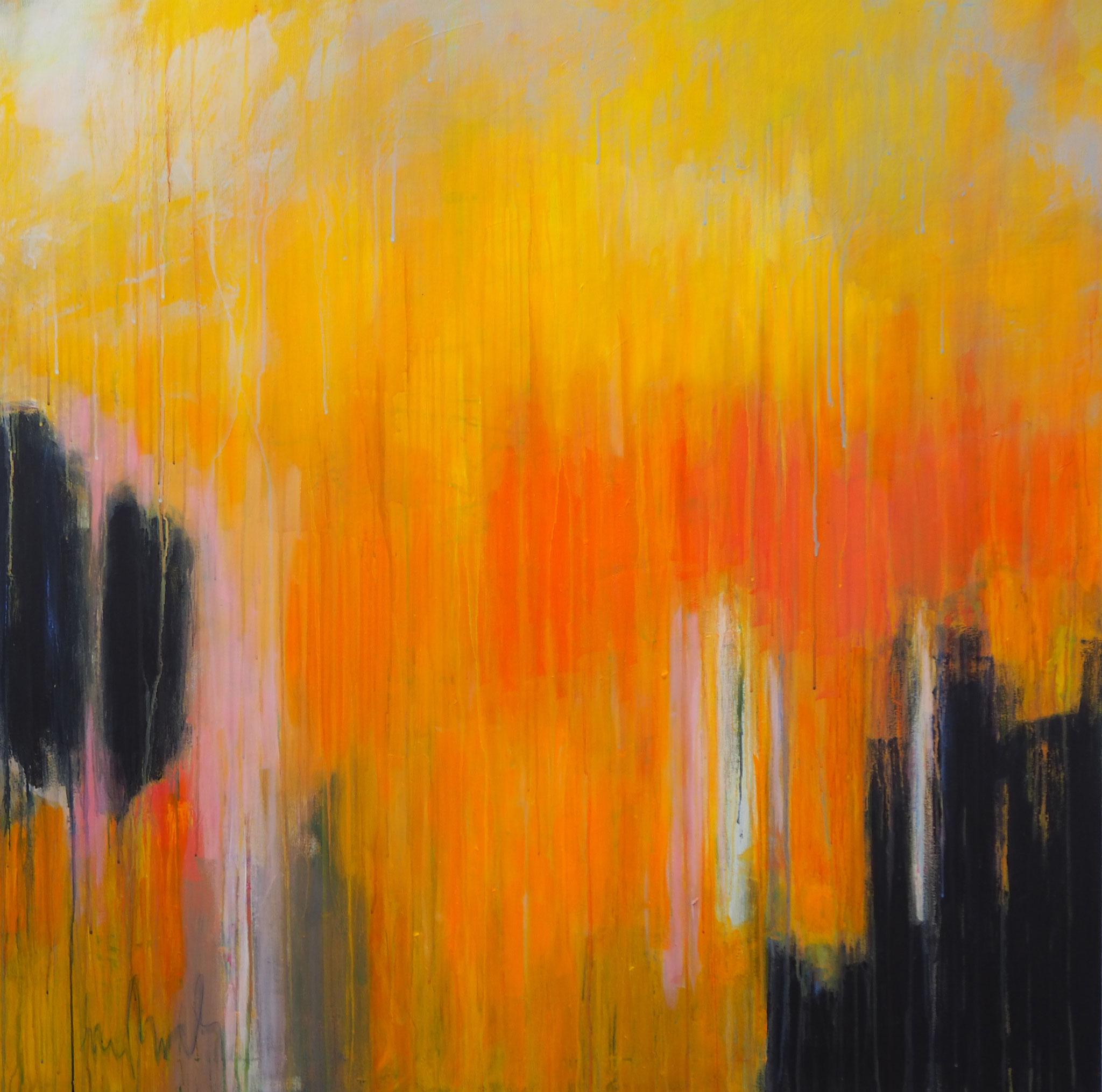 autumn breeze  accryl on canvas  115 cm / 115 cm