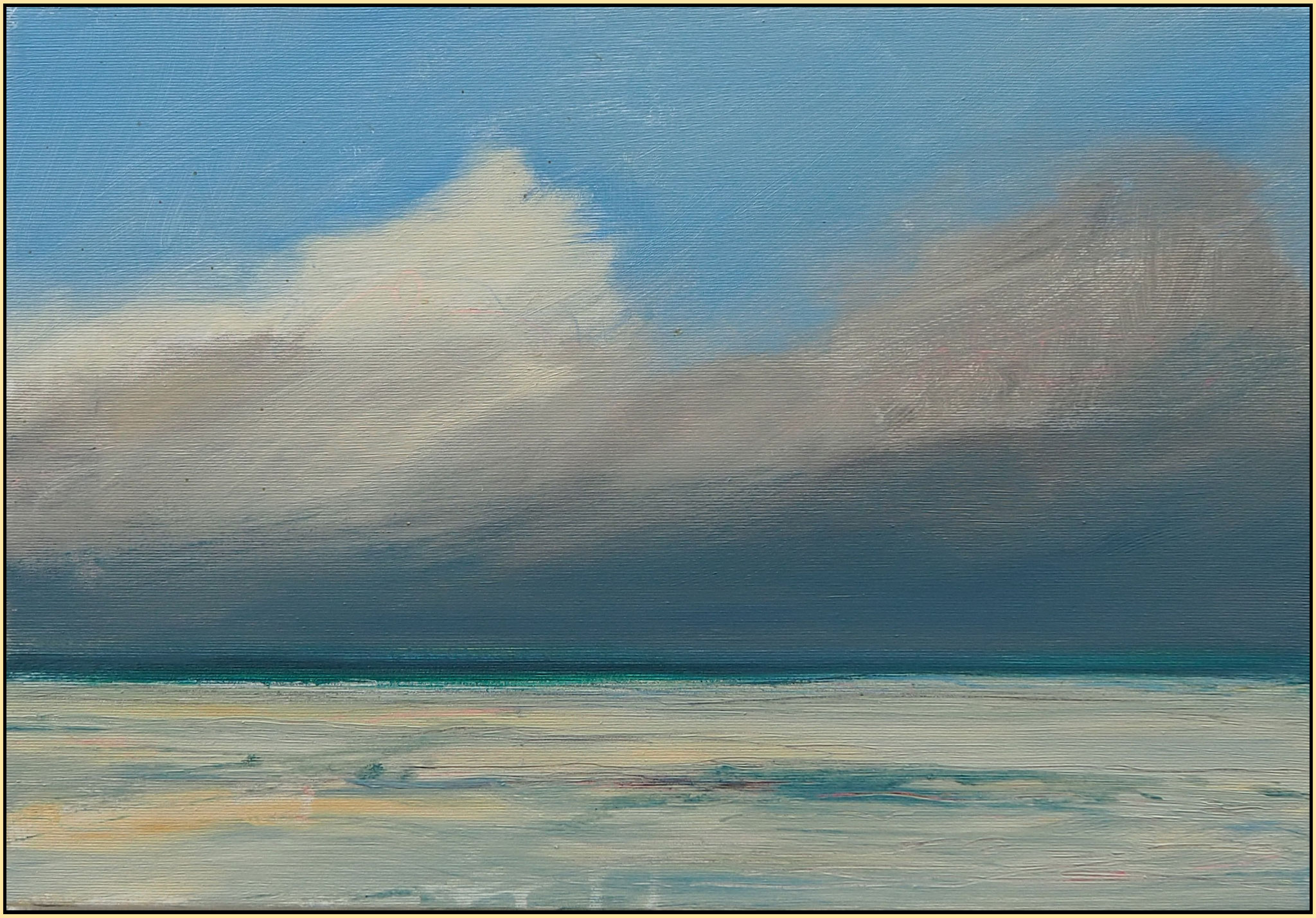 November beach 2020  acryl on canvas  38 cm / 55 cm