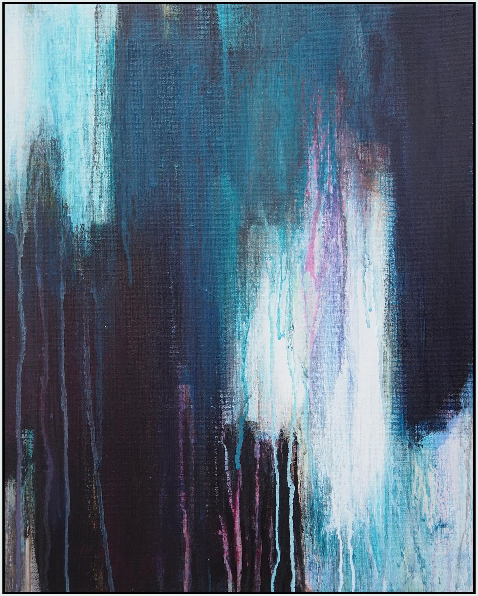 light through the dark 1 acryl on canvas  48cm / 38 cm