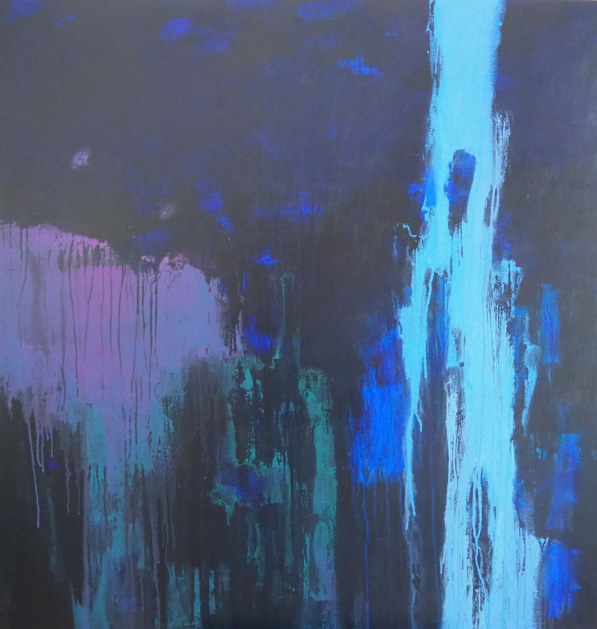 ocean's light acryl on canvas  120 cm / 120 cm