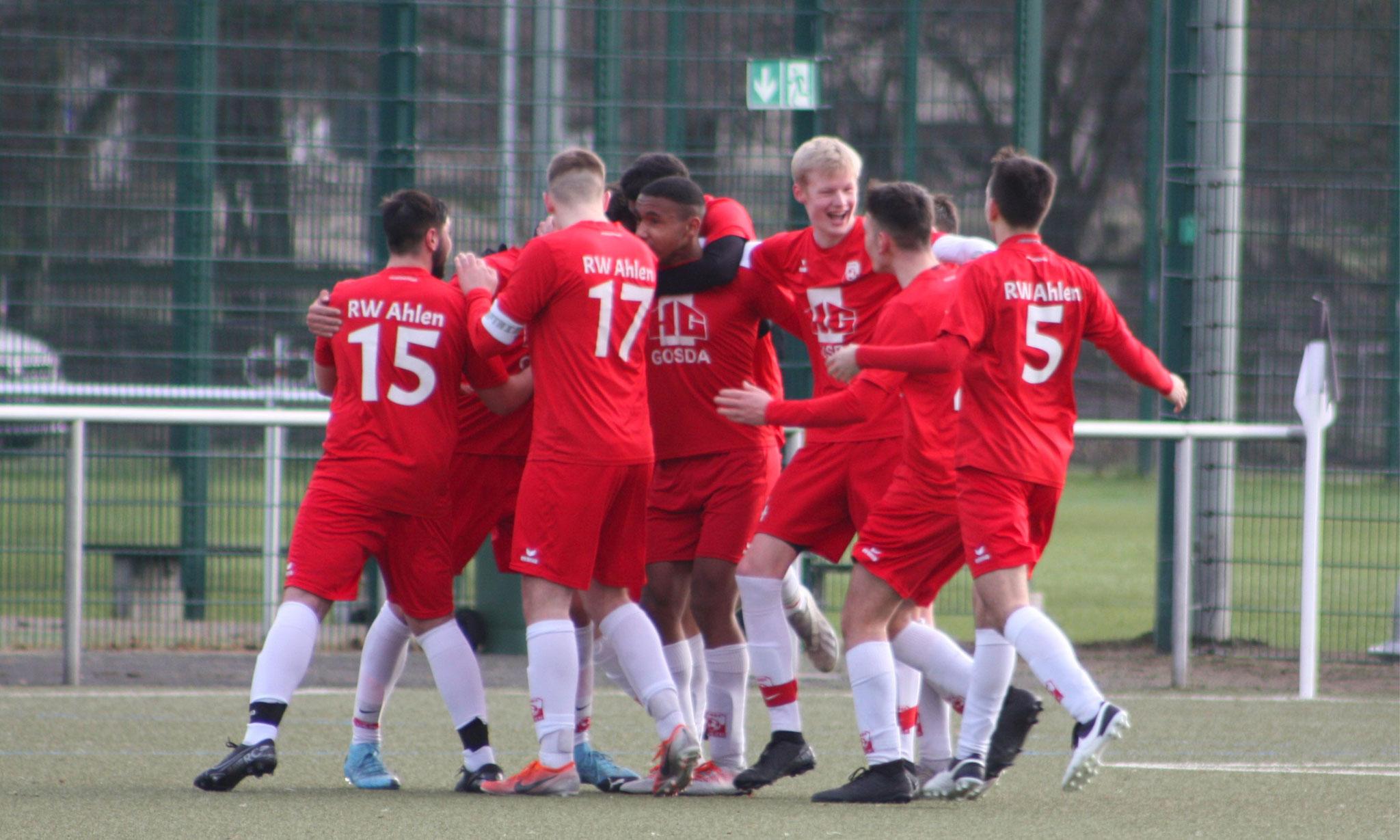 Führungstreffer im Spiel gegen SC Verl