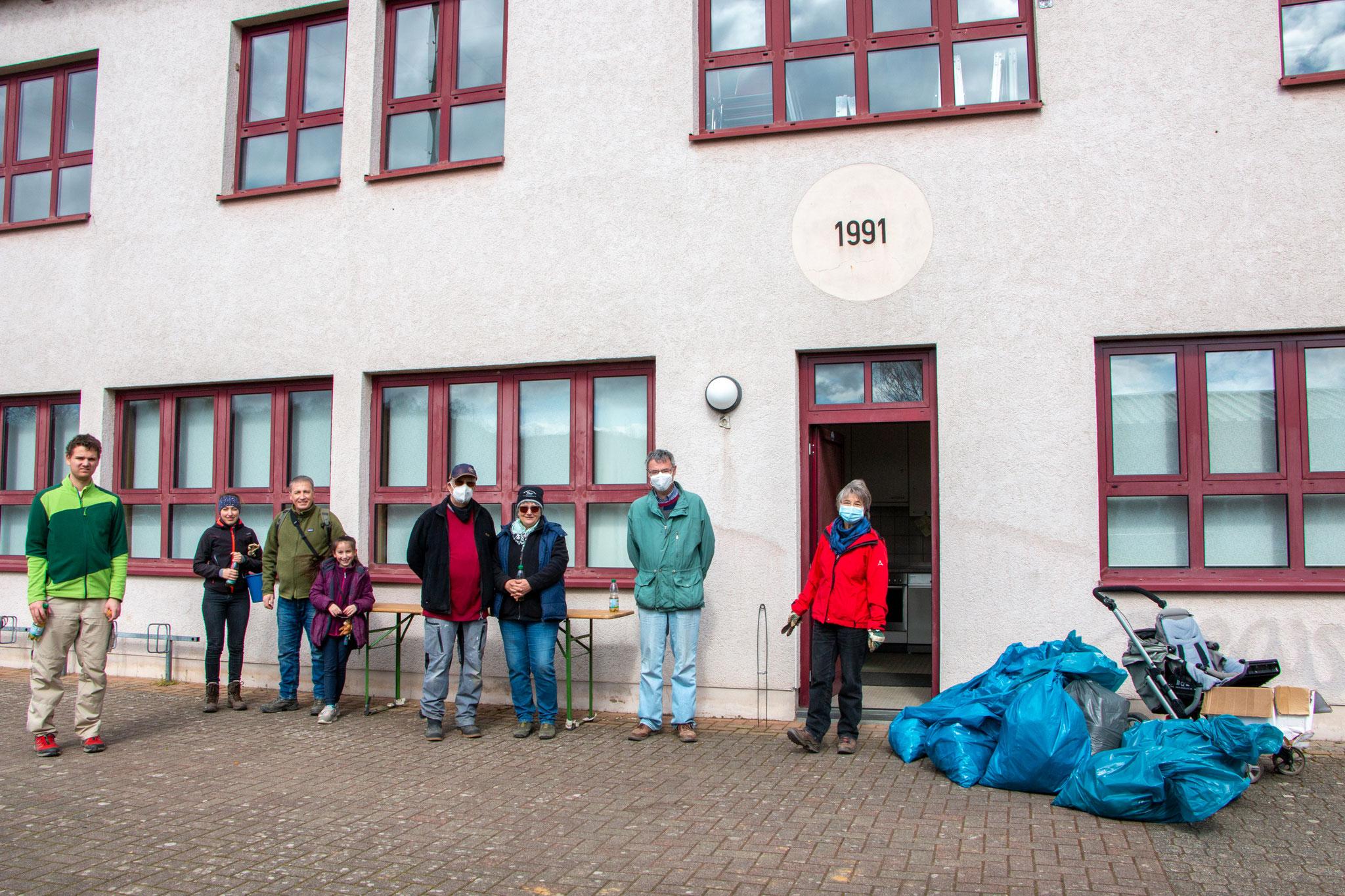 Zurück im Schulhof der Norbert-Preiß-Schule