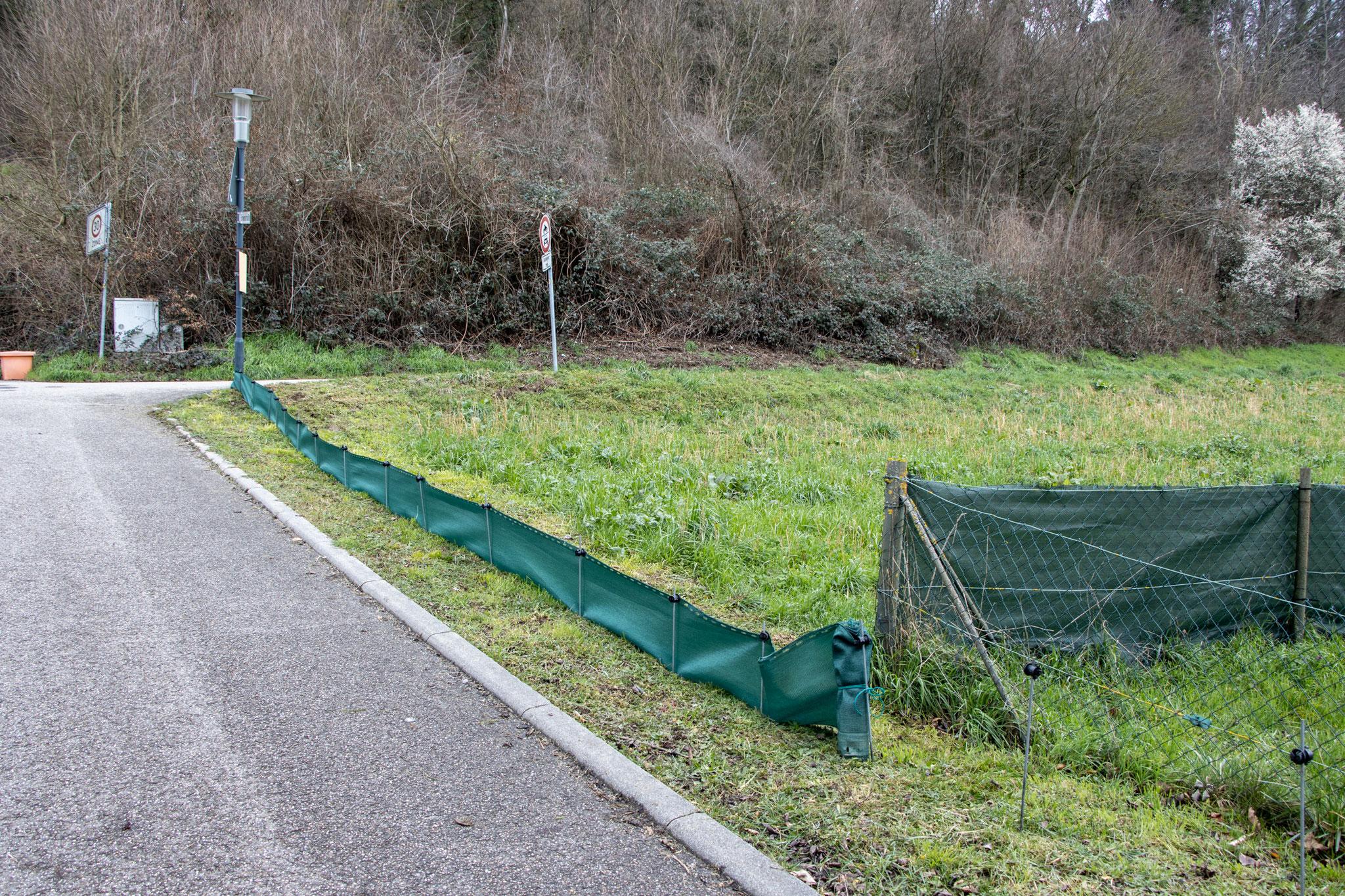 Eine Teilstrecke mit Folie bespannt (Foto: B. Budig)