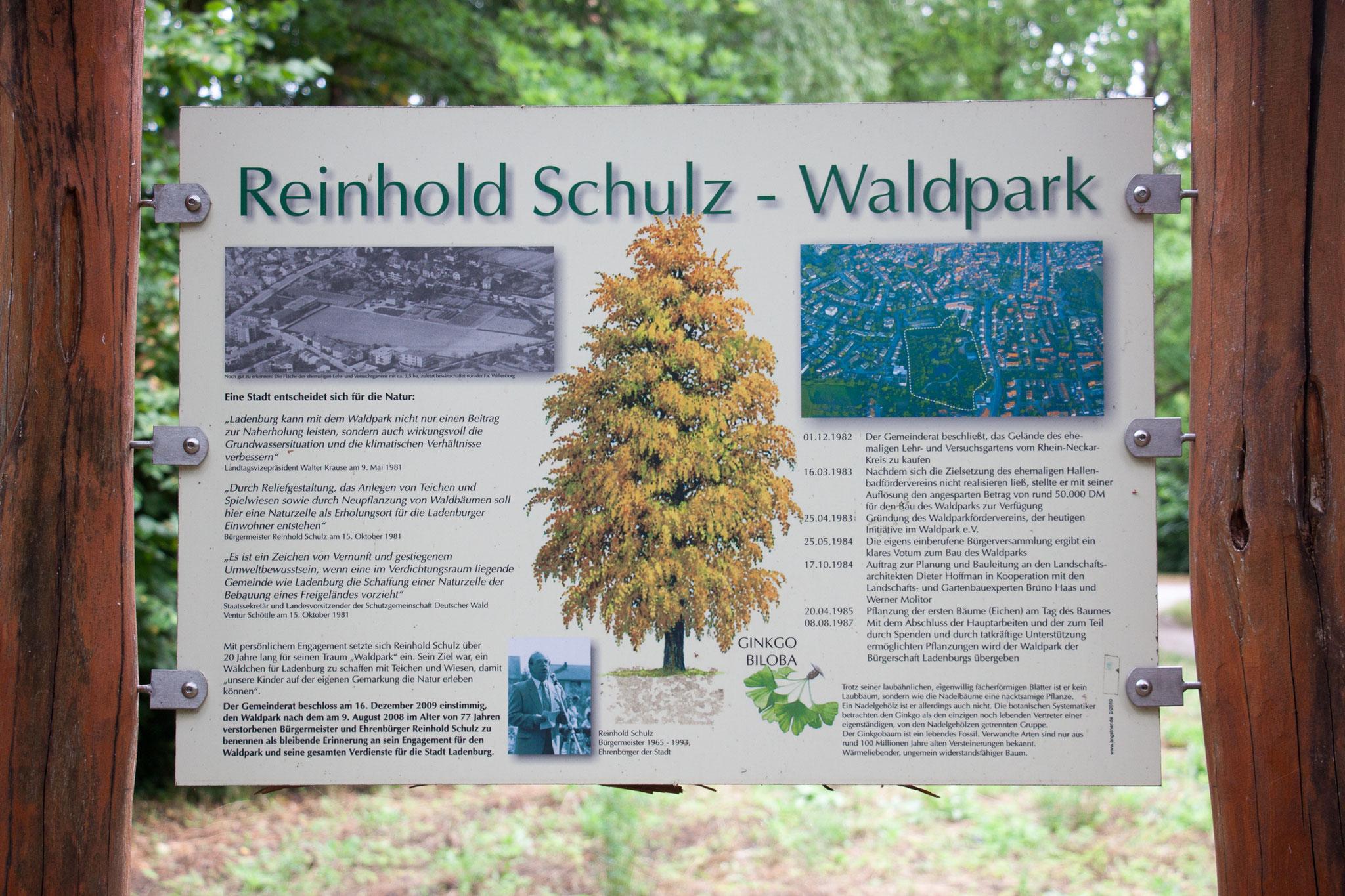 Reinhold Schulz-Waldpark in Ladenburg