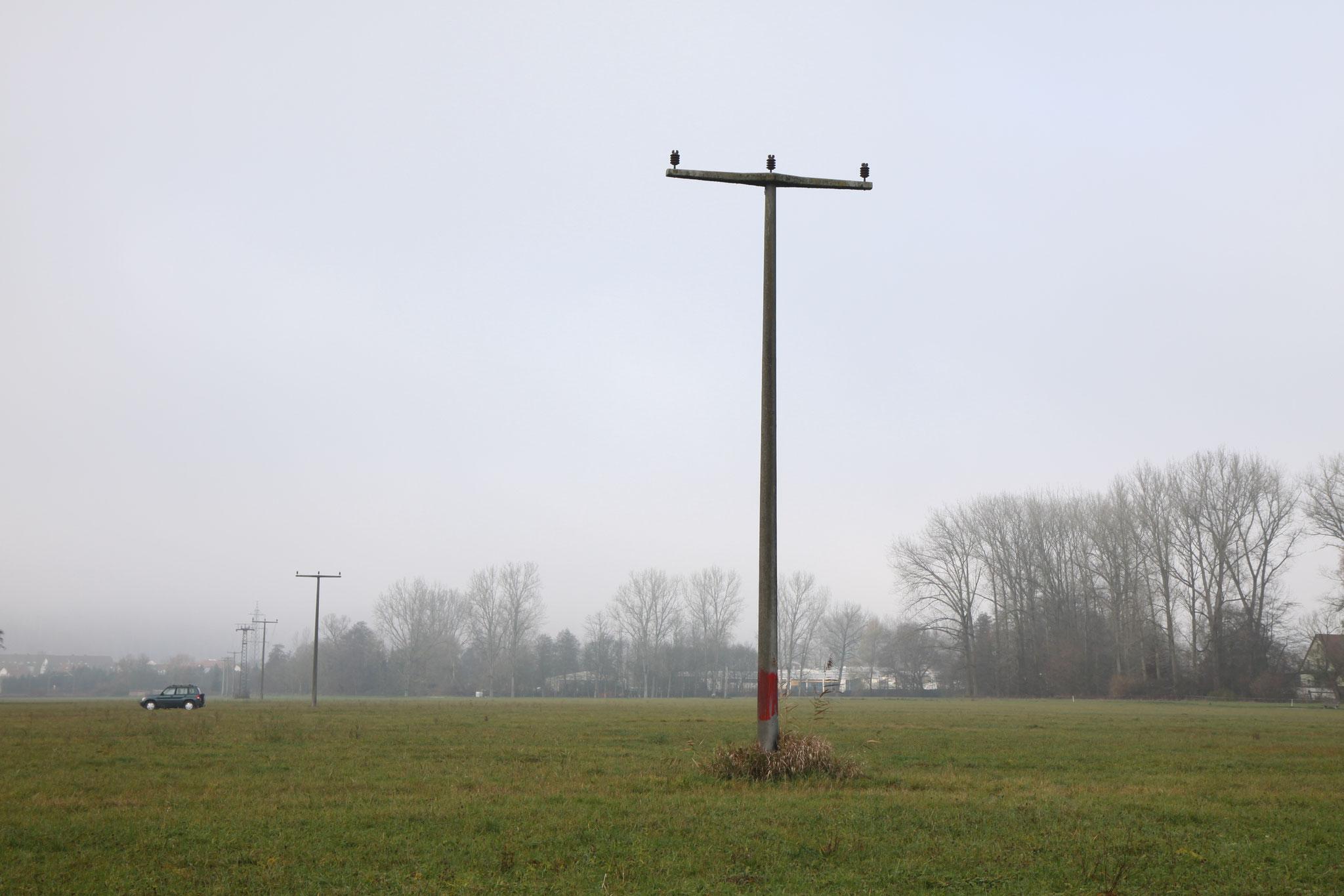 Strommast noch ohne Nest (Foto: B. Budig)