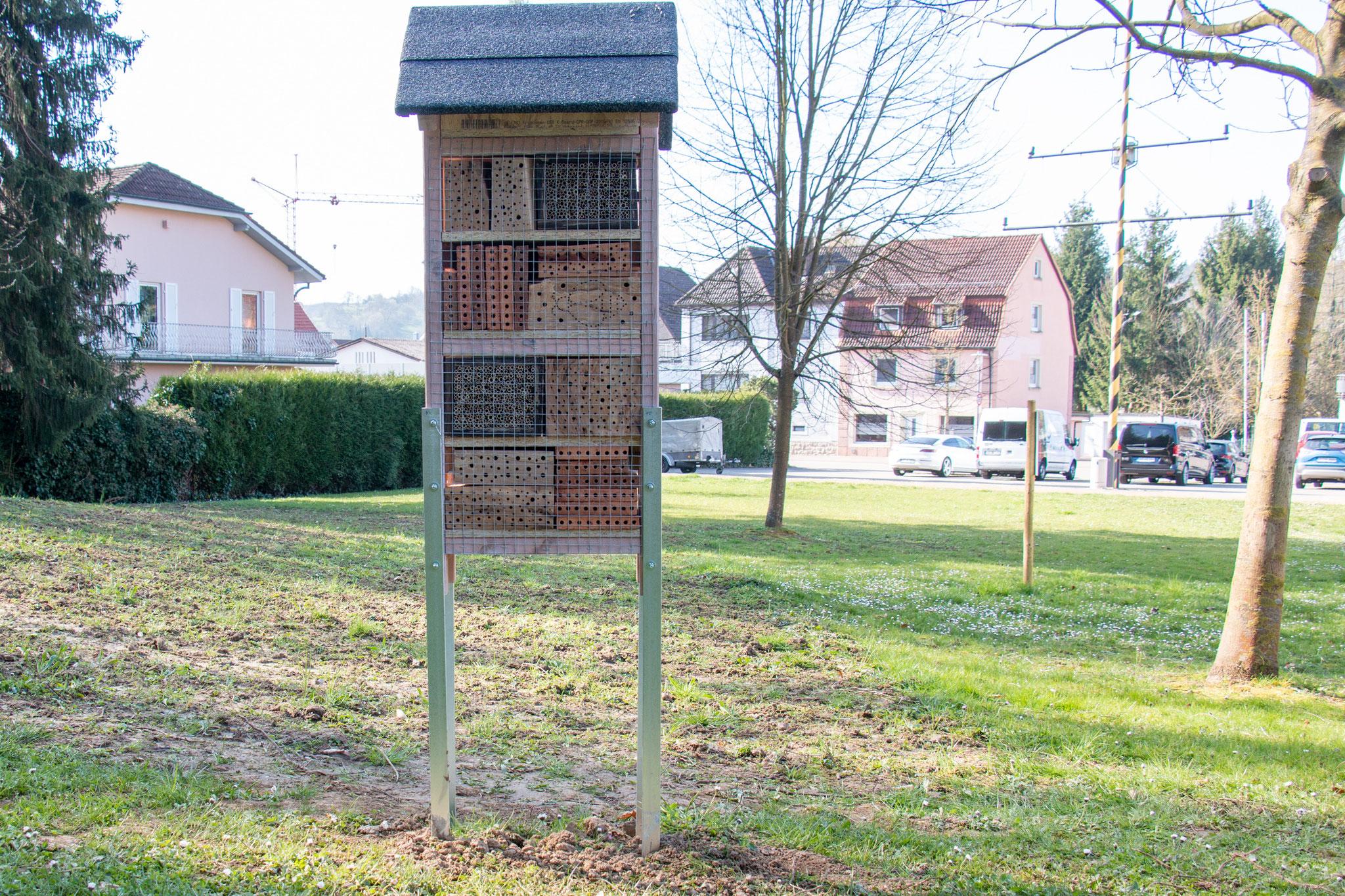 fertige Rückseite mit verklebten Holzblöcken und Keilen (Foto: M. Budig)