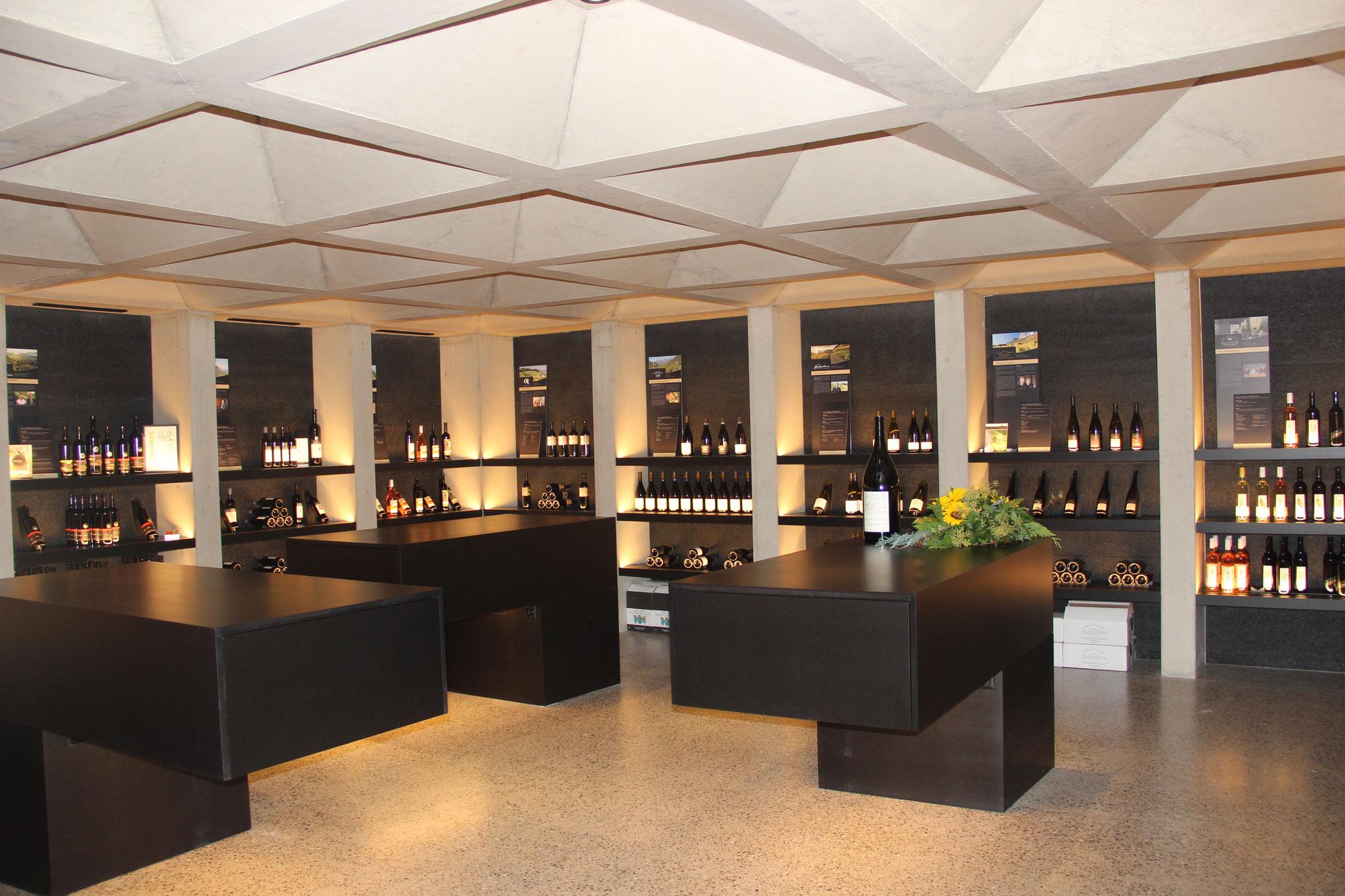 Die Weinwelt - das Herz der ganzen Anlage
