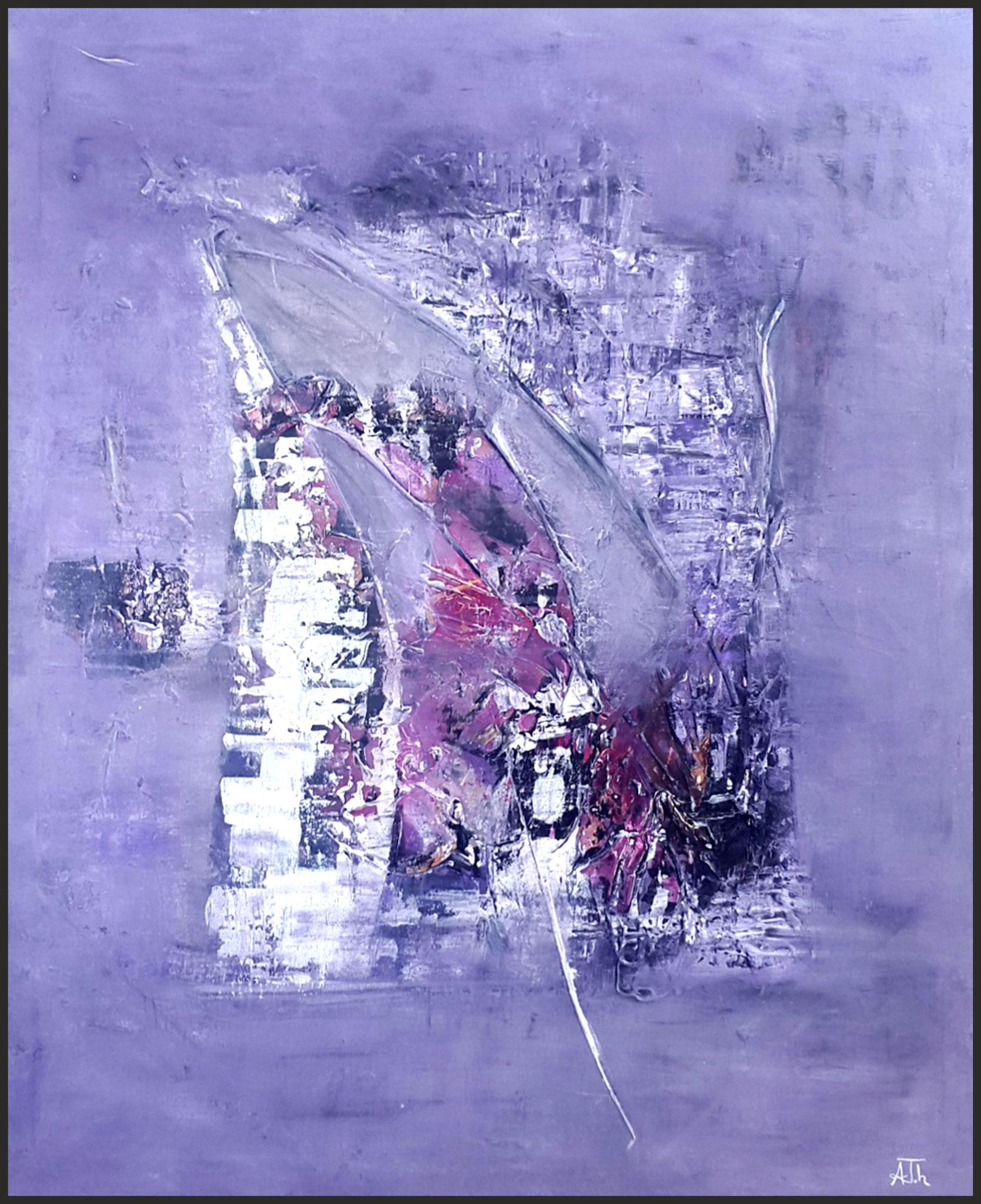 Lilarium | 73 x 92 cm | Holzrahmung
