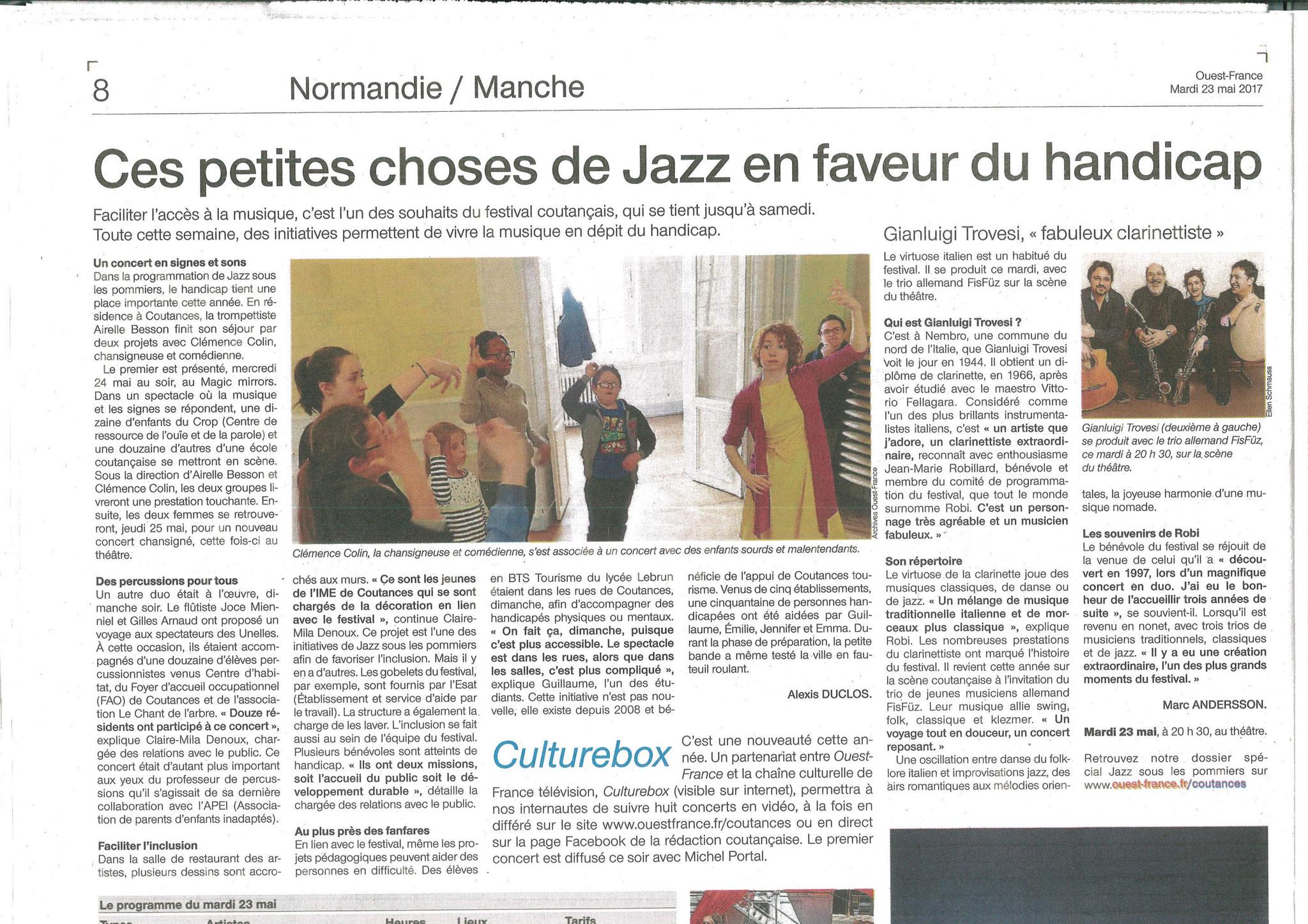 Ouest France - 22 mai 2017