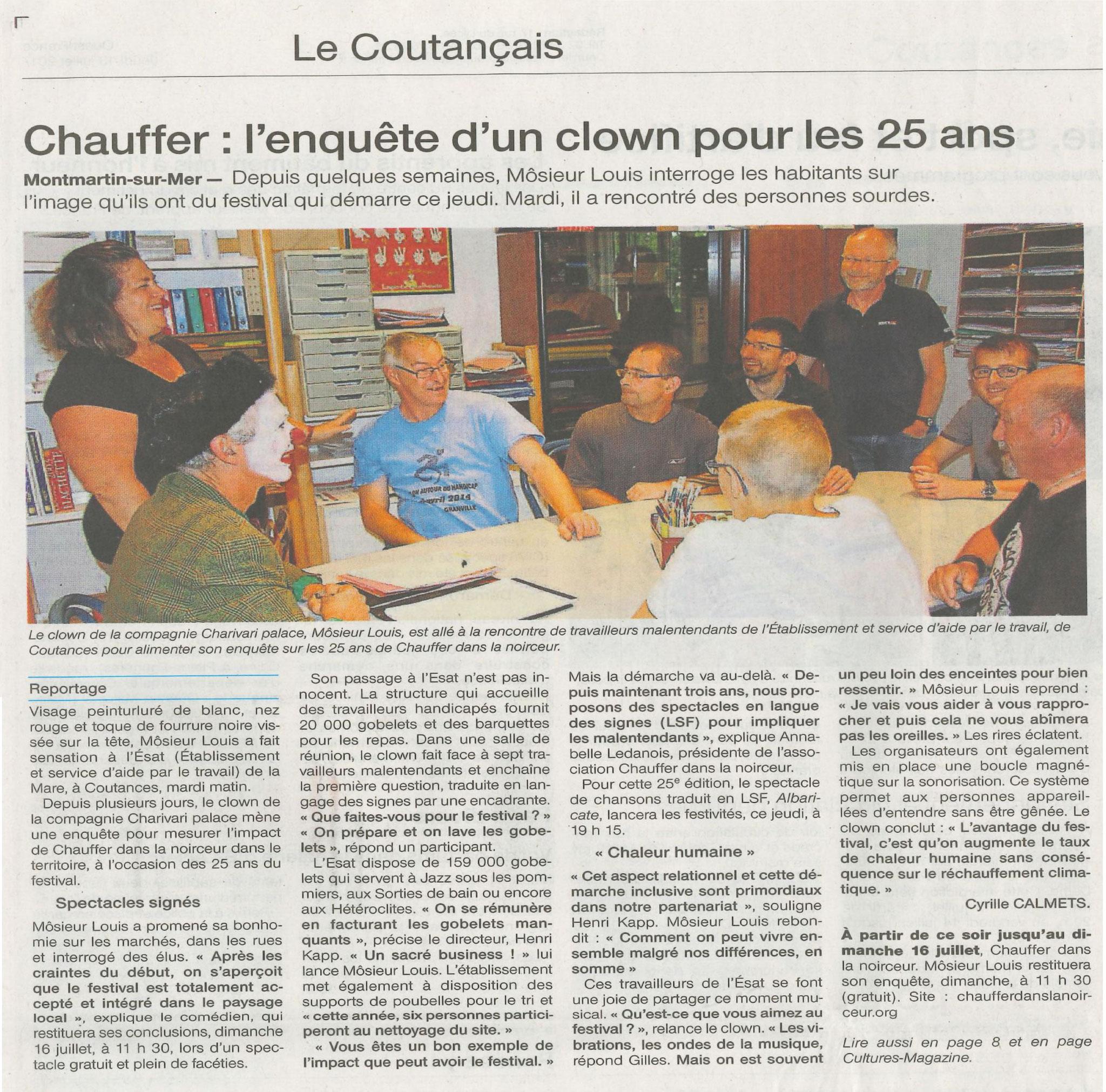Ouest France - 13 juillet 2017