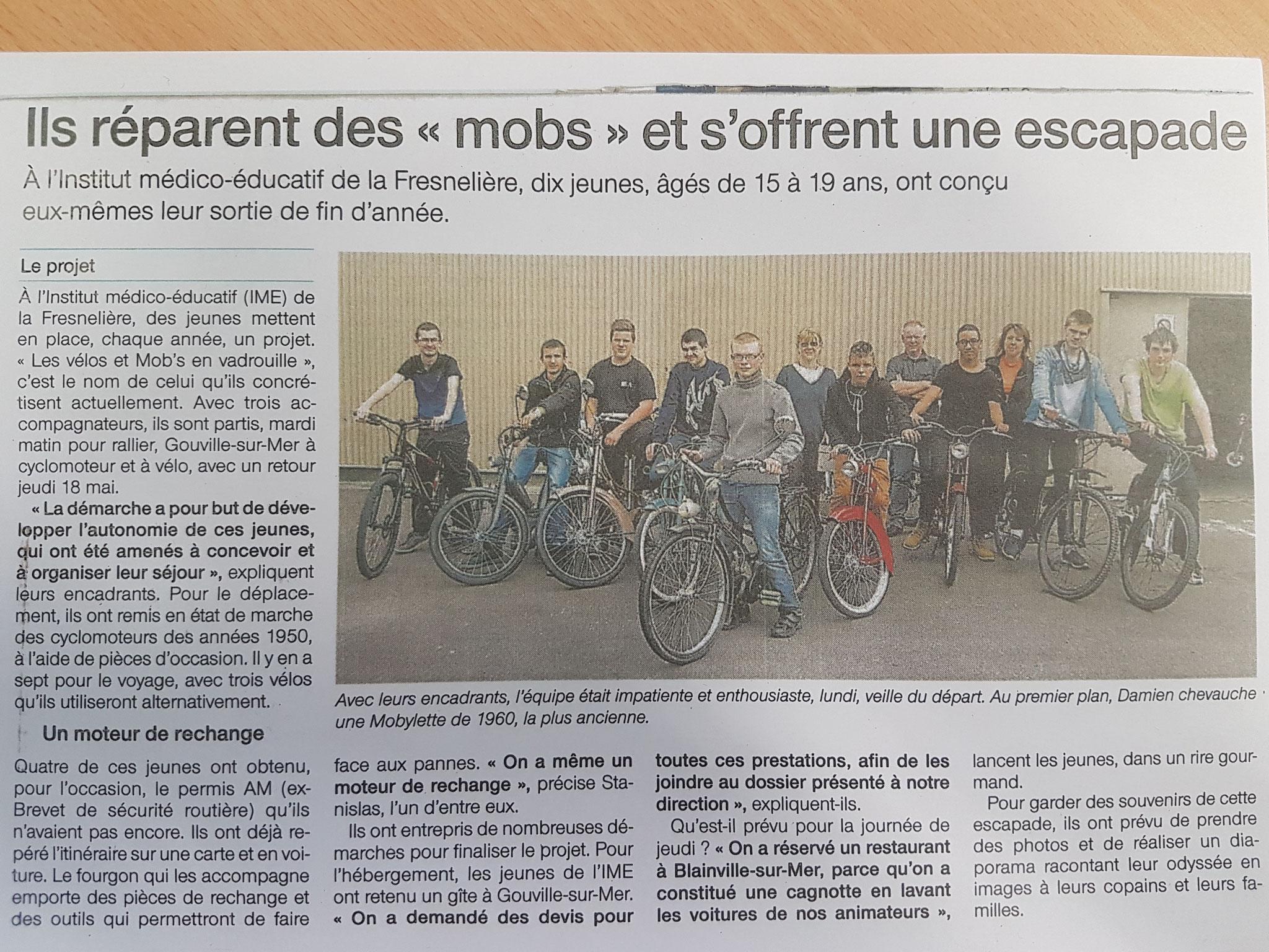 Ouest France - 18 mai 2017