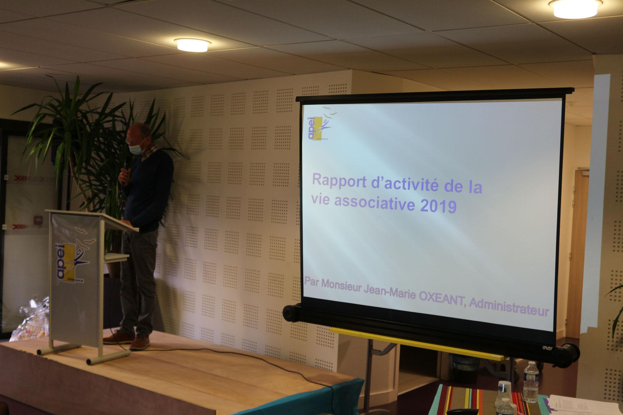 Rapport de la Vie Associative par Jean-Marie OXEANT