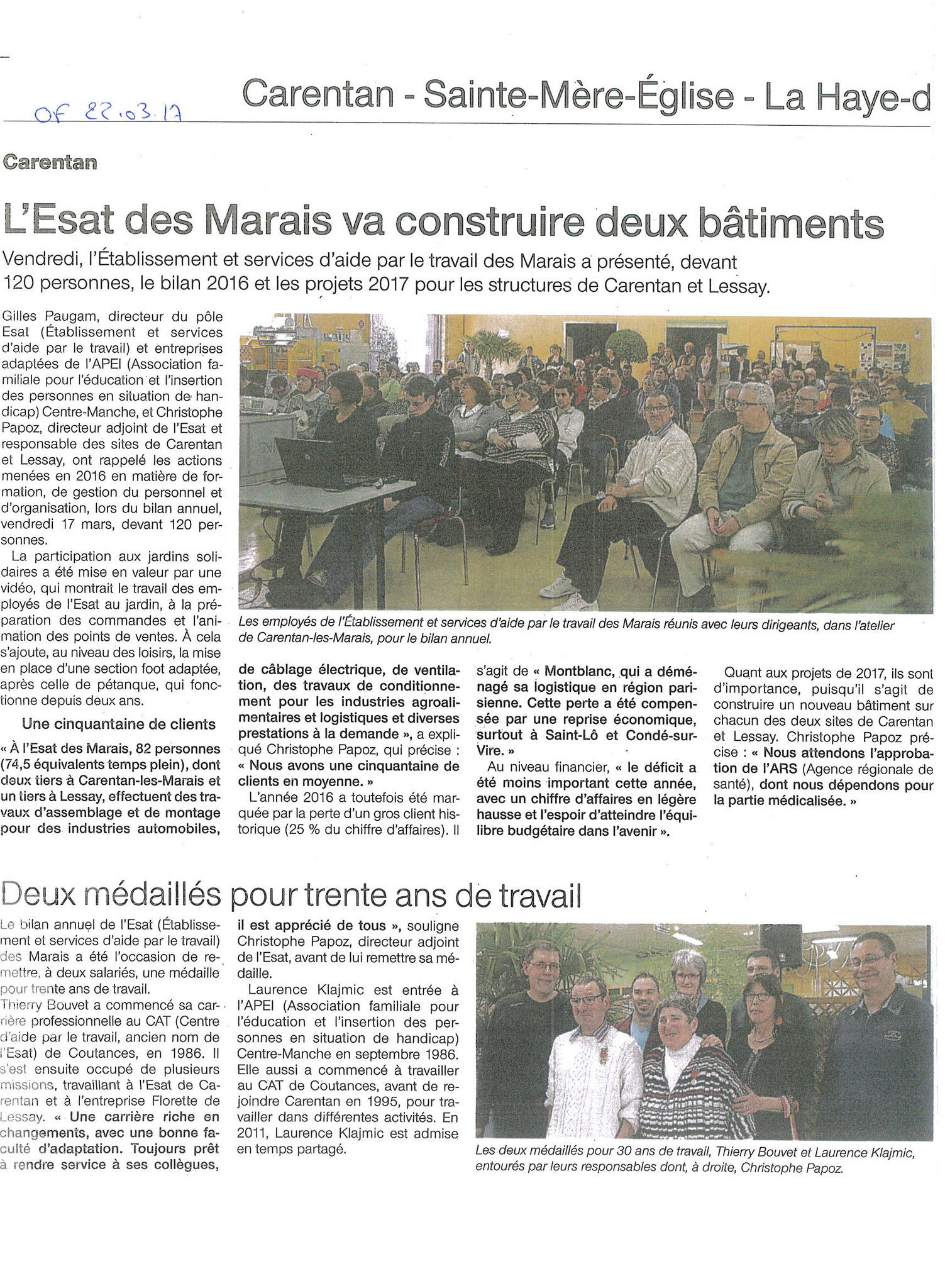 Ouest-France - 22 mars 2017
