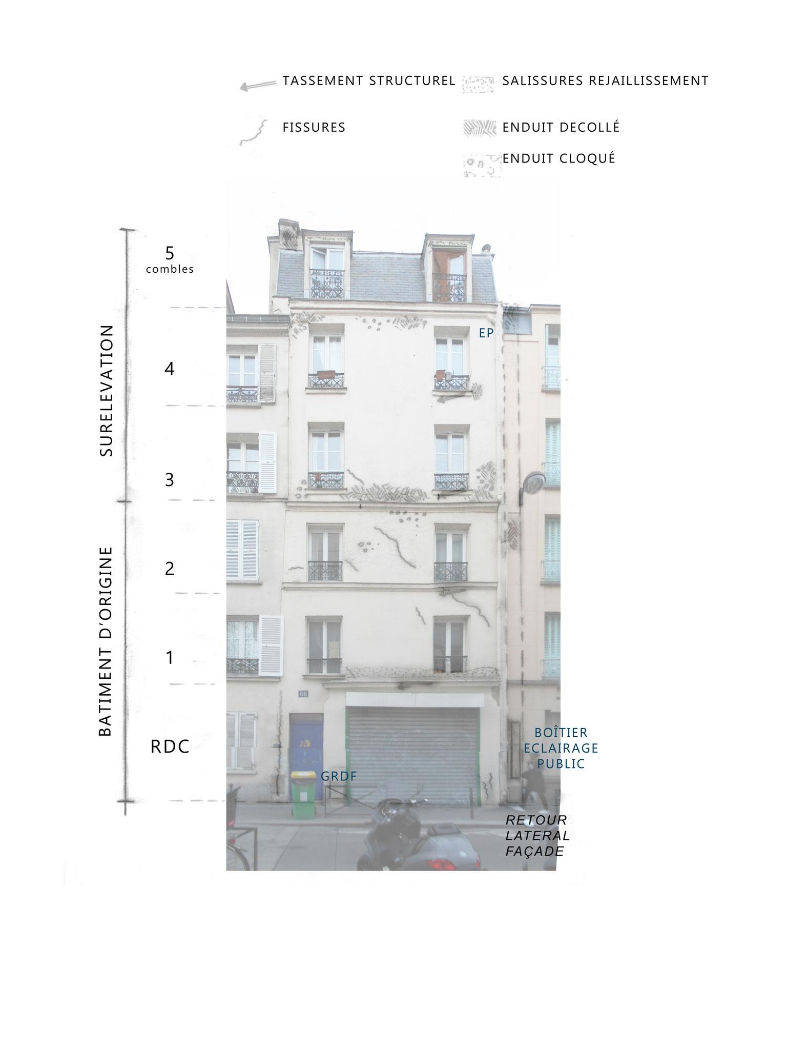 DIAGNOSTIC façade sur rue