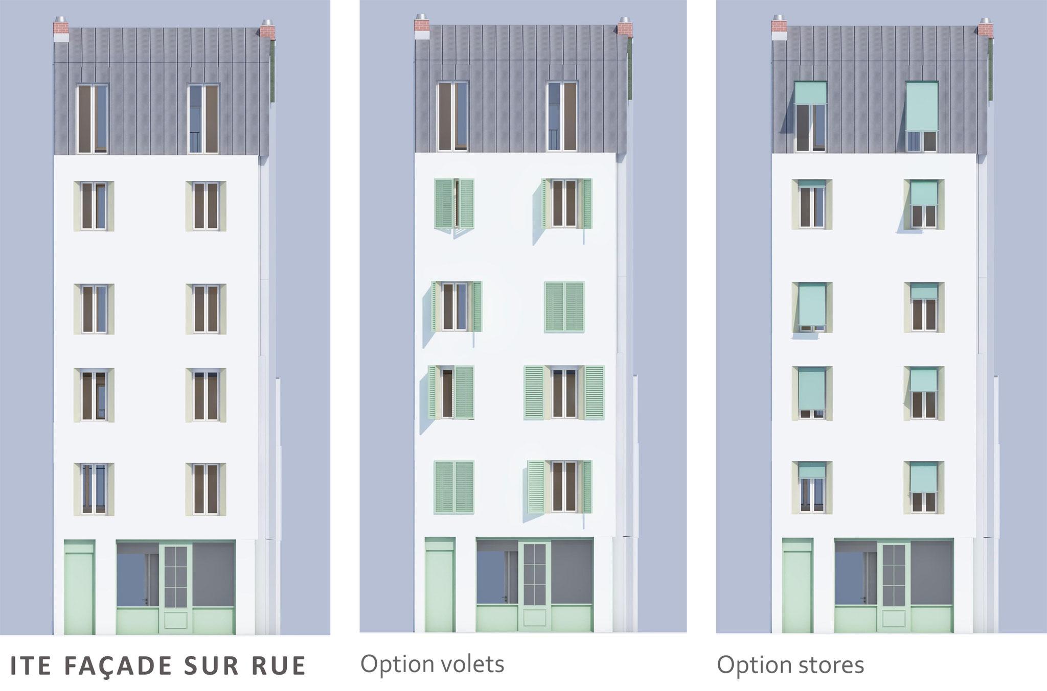 AVANT PROJET: options façade sur rue