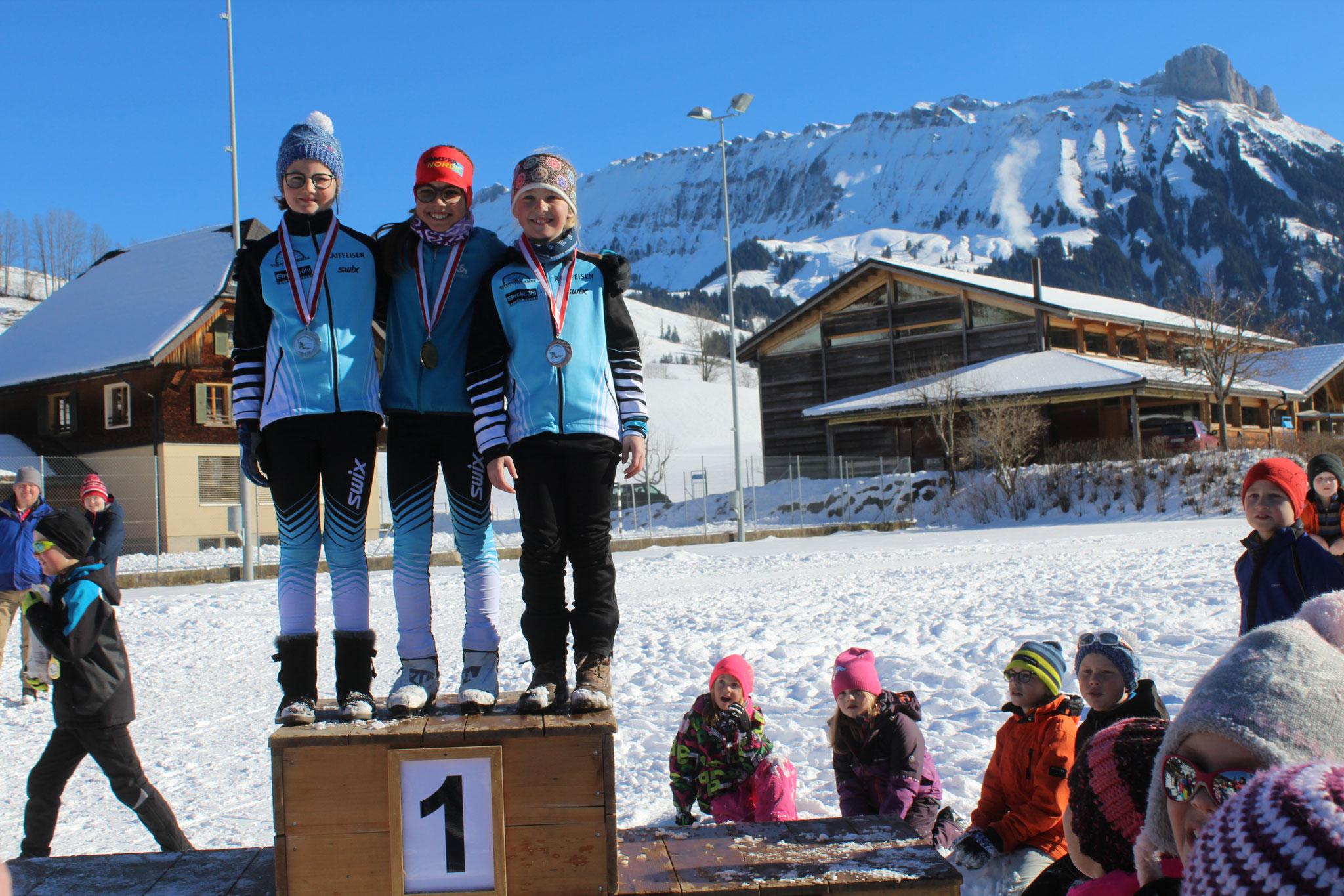 Kategoriesiegerinnen der Mädchen 3.-6. Klasse