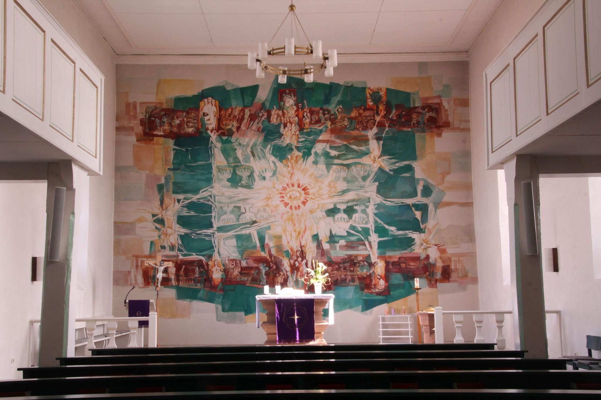 Wandgemälde v. E. Klonk in der Pfarrkirche Elnhausen   Bildquelle: GR Second Life bei Wikipedia